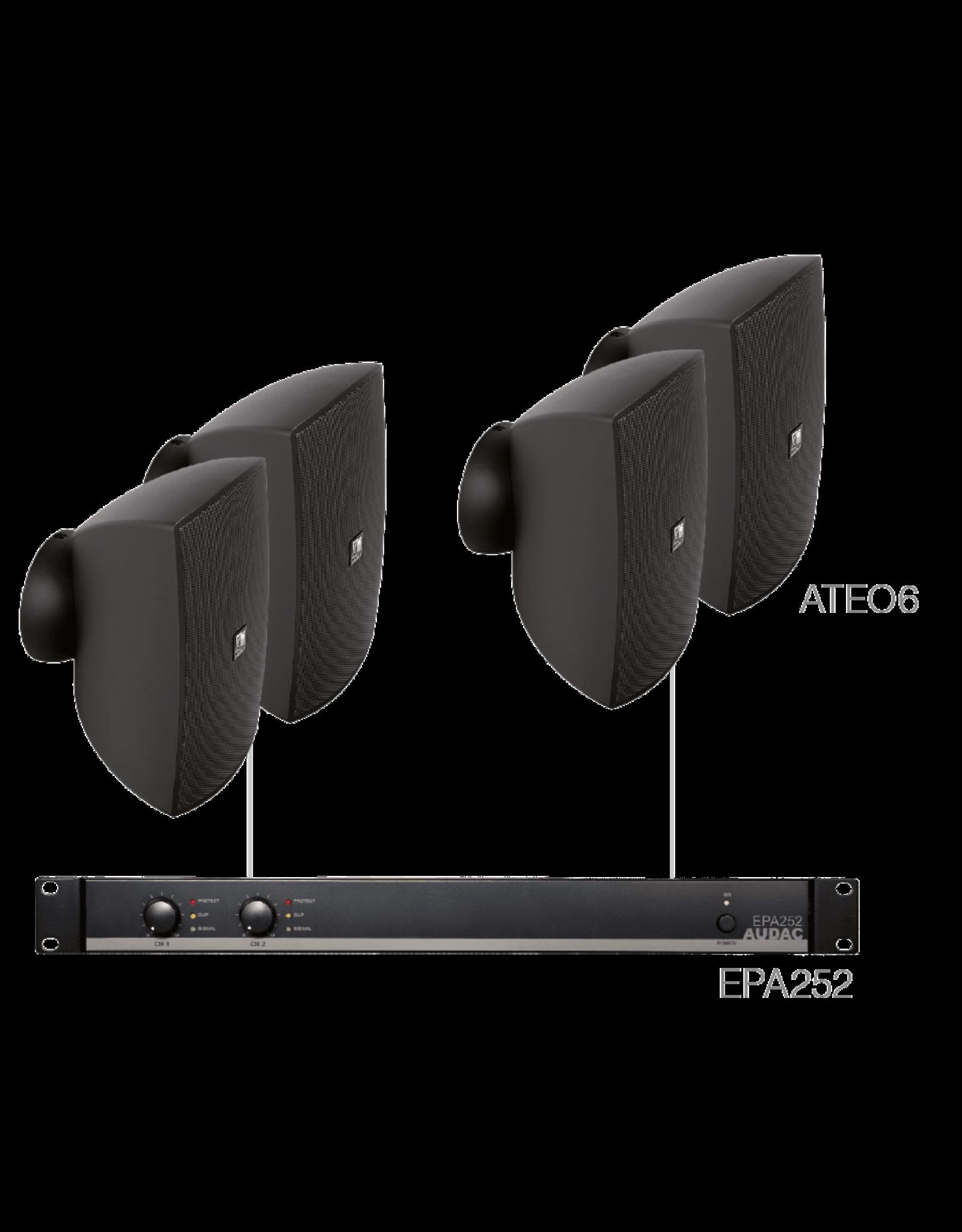 Audac 4 x ATEO6 + EPA252 Black