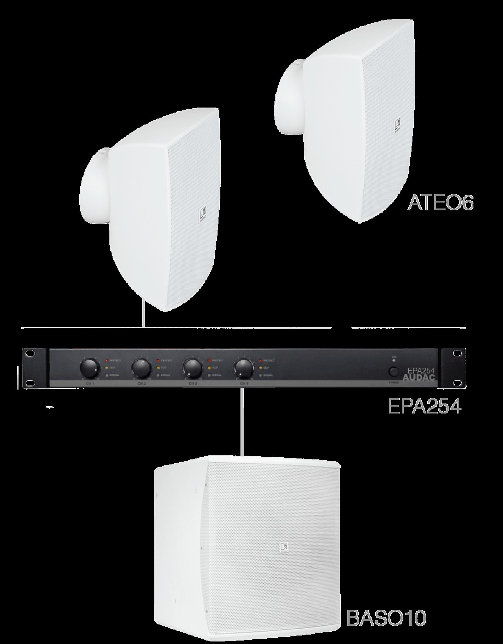 Audac 2 x ATEO6 + BASO10 + EPA254 White
