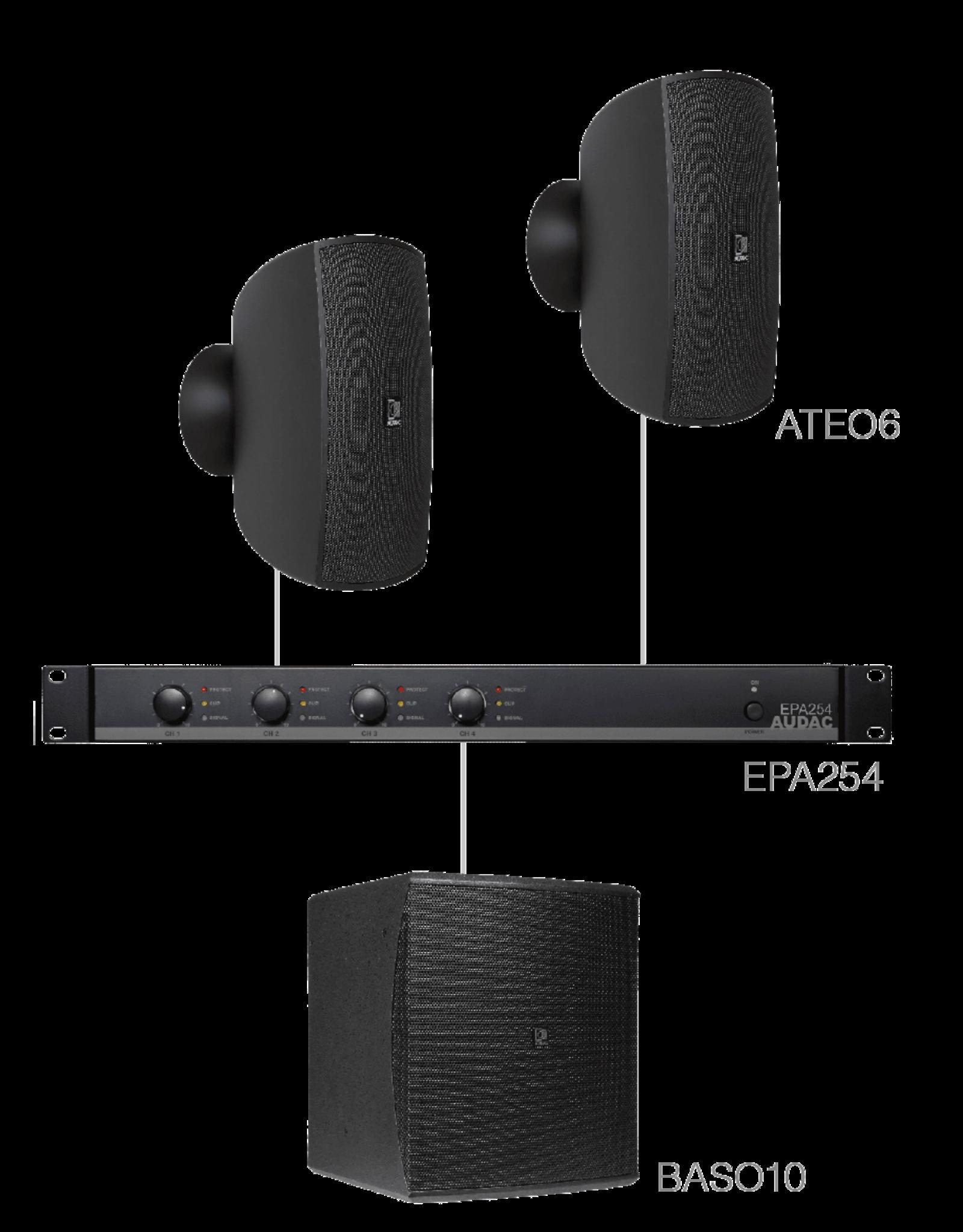 Audac 2 x ATEO6 + BASO10 + EPA254 Black