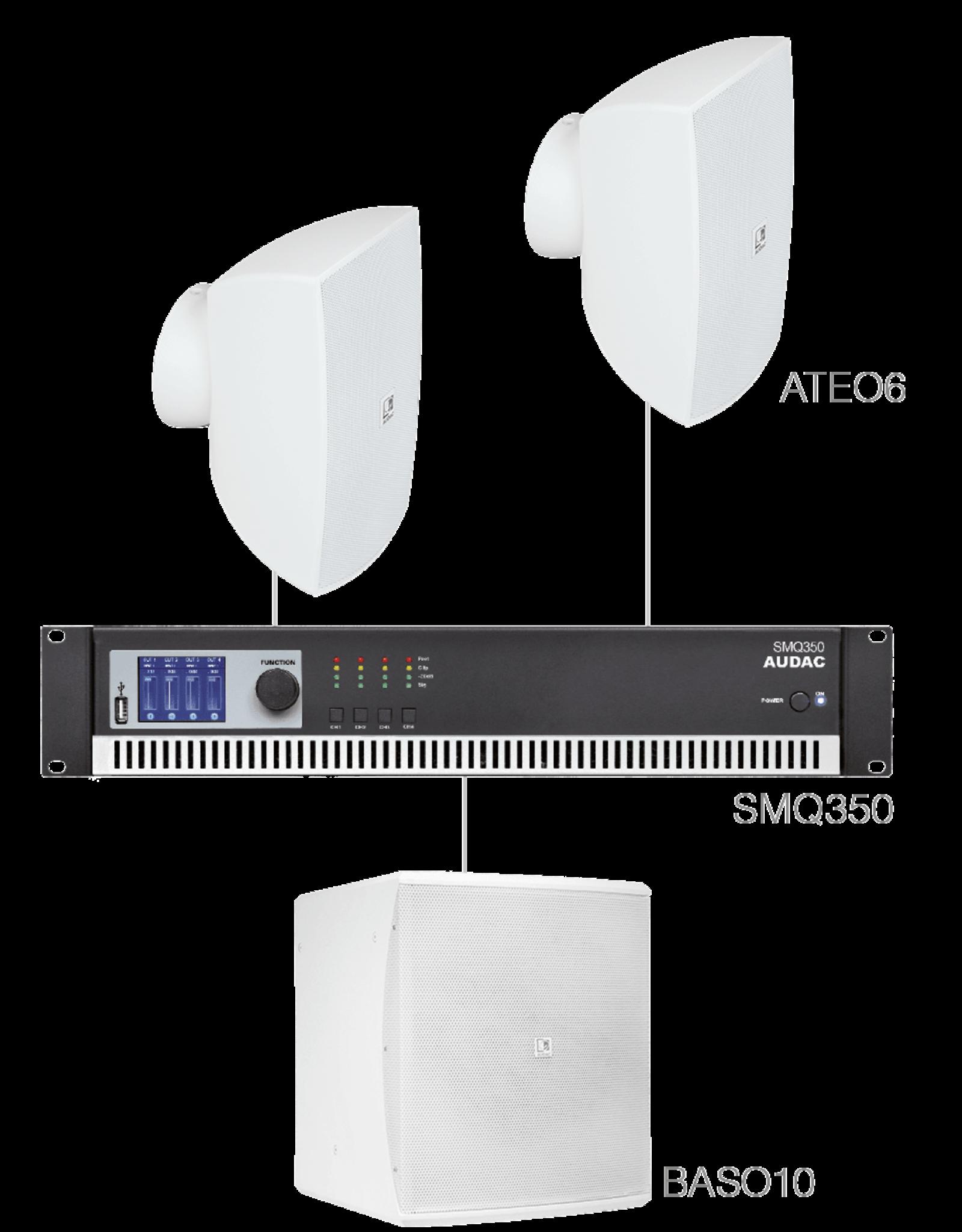 Audac 2 x ATEO6 + BASO10 + SMQ350 White version