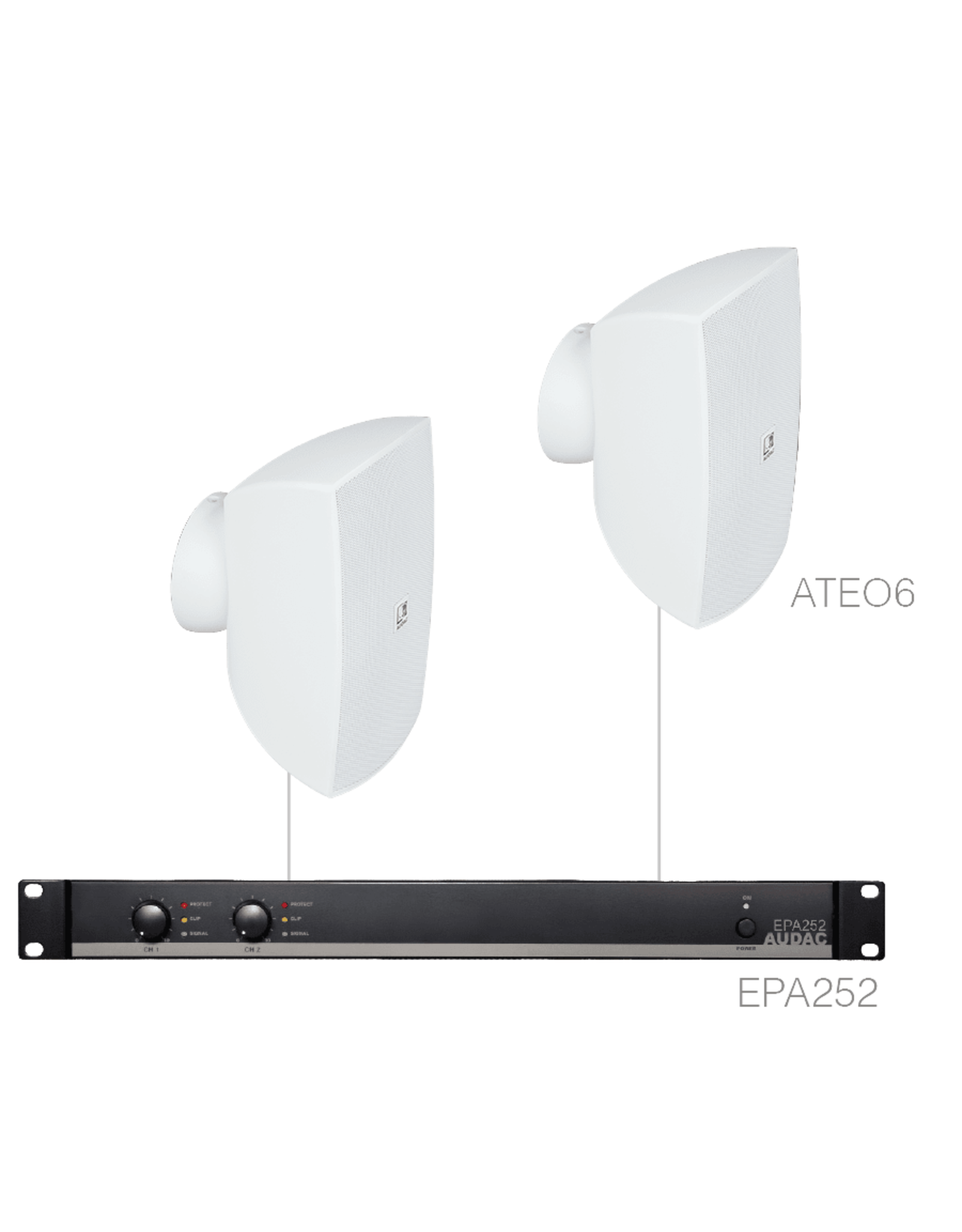 Audac 2 x ATEO6 + EPA252 White