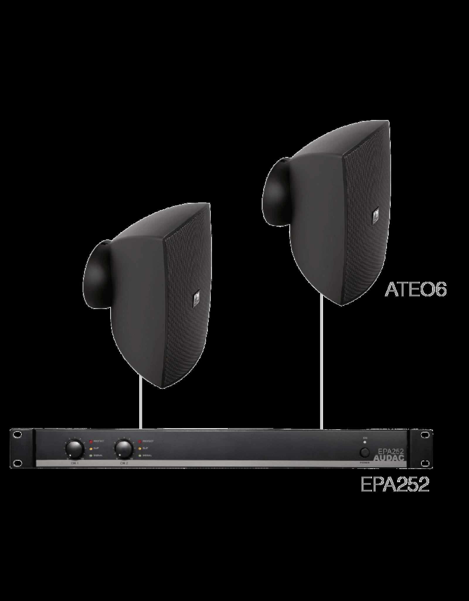 Audac 2 x ATEO6 + EPA252 Black