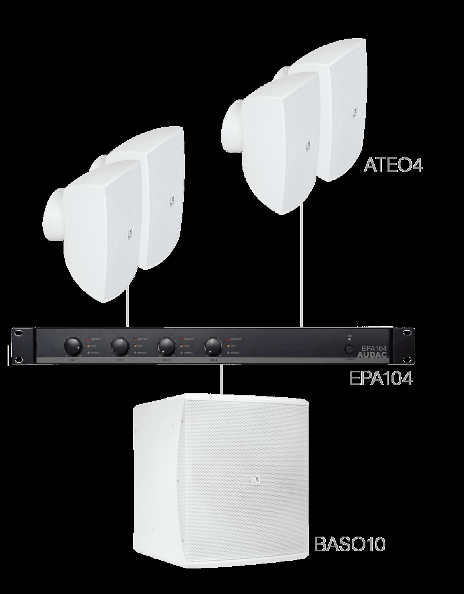 Audac 4 x ATEO4 + BASO10 + EPA104 White