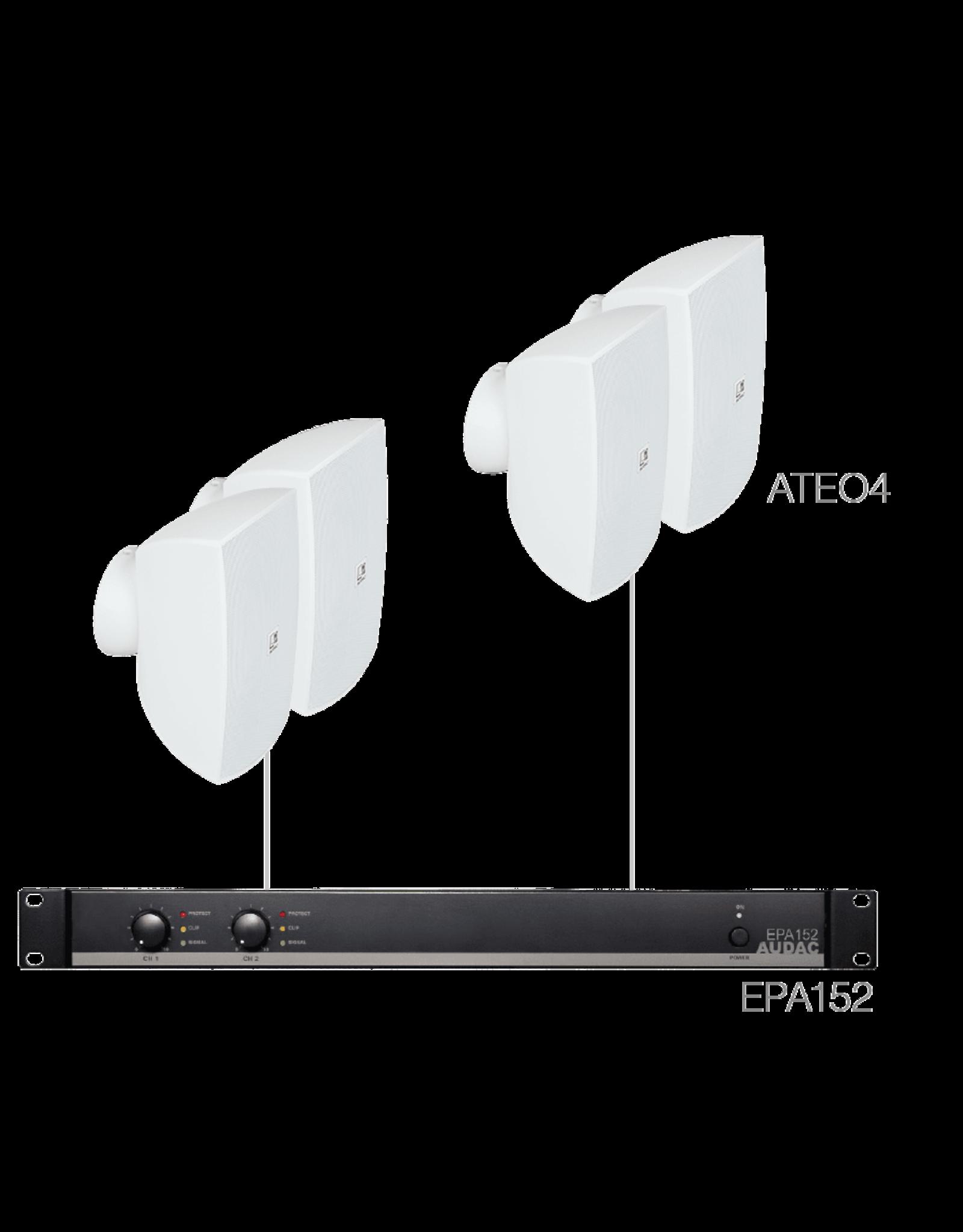 Audac 4 x ATEO4 + EPA152 White