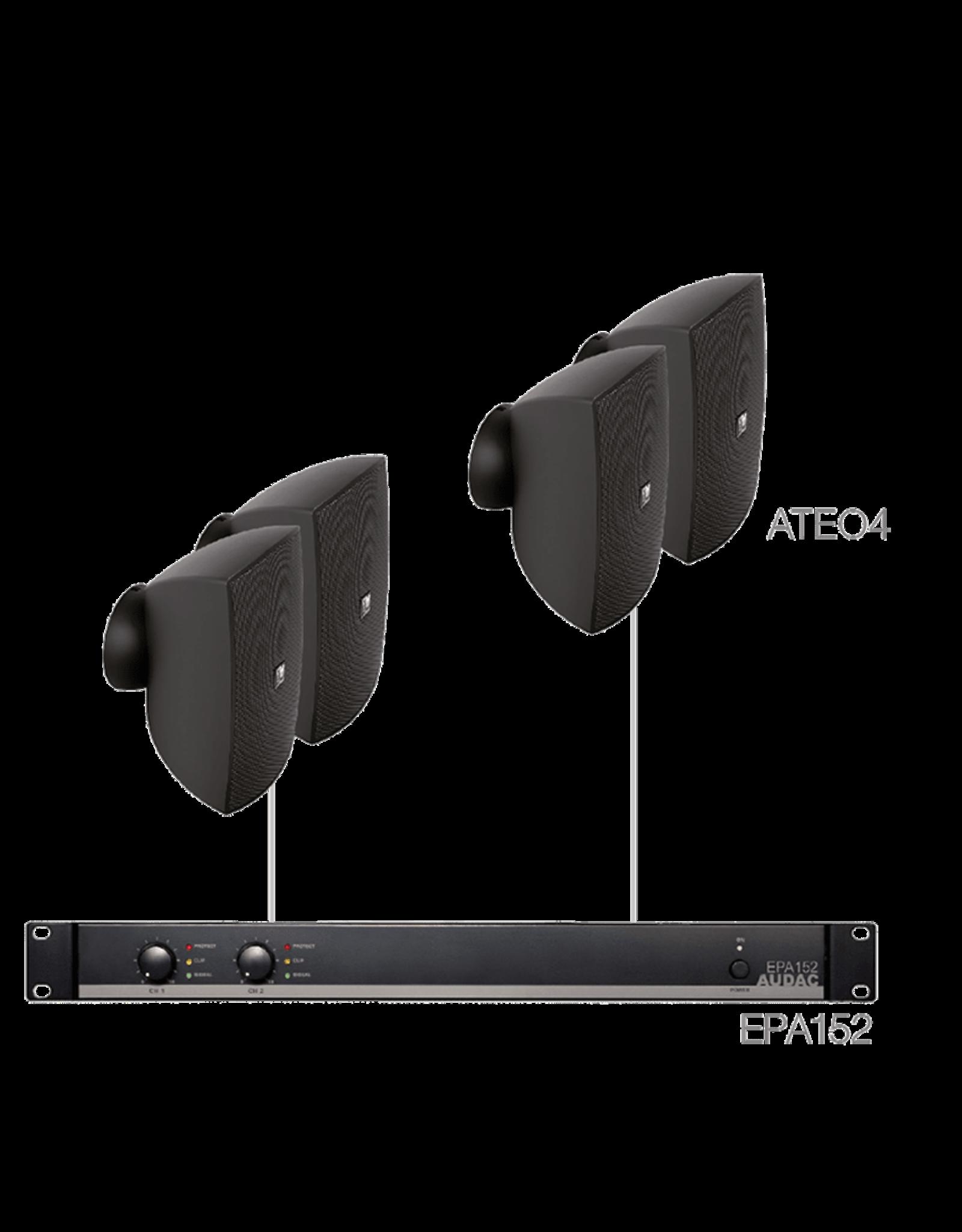 Audac 4 x ATEO4 + EPA152 Black