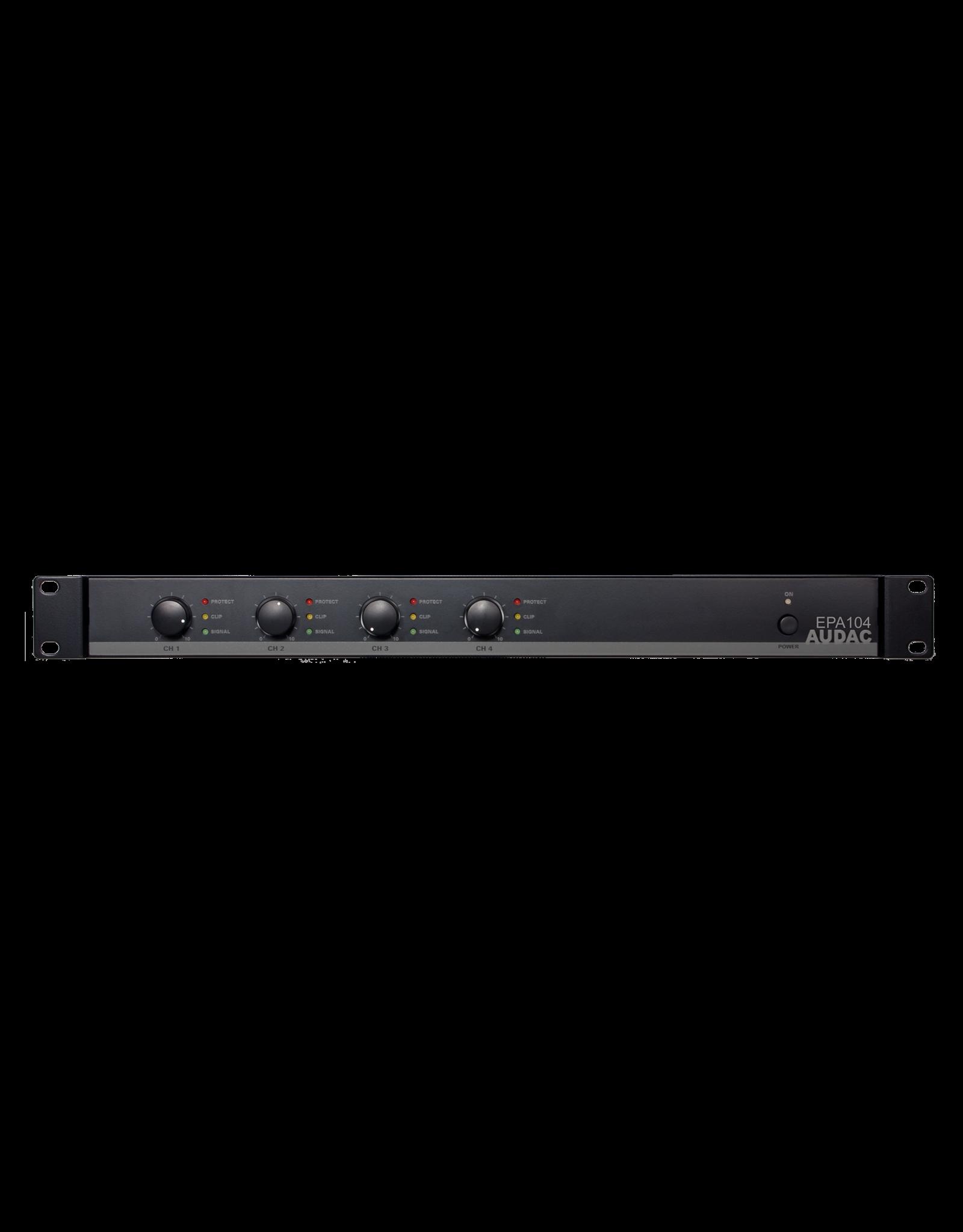 Audac Quad-channel Class-D amplifier 4 x 100W - crossover
