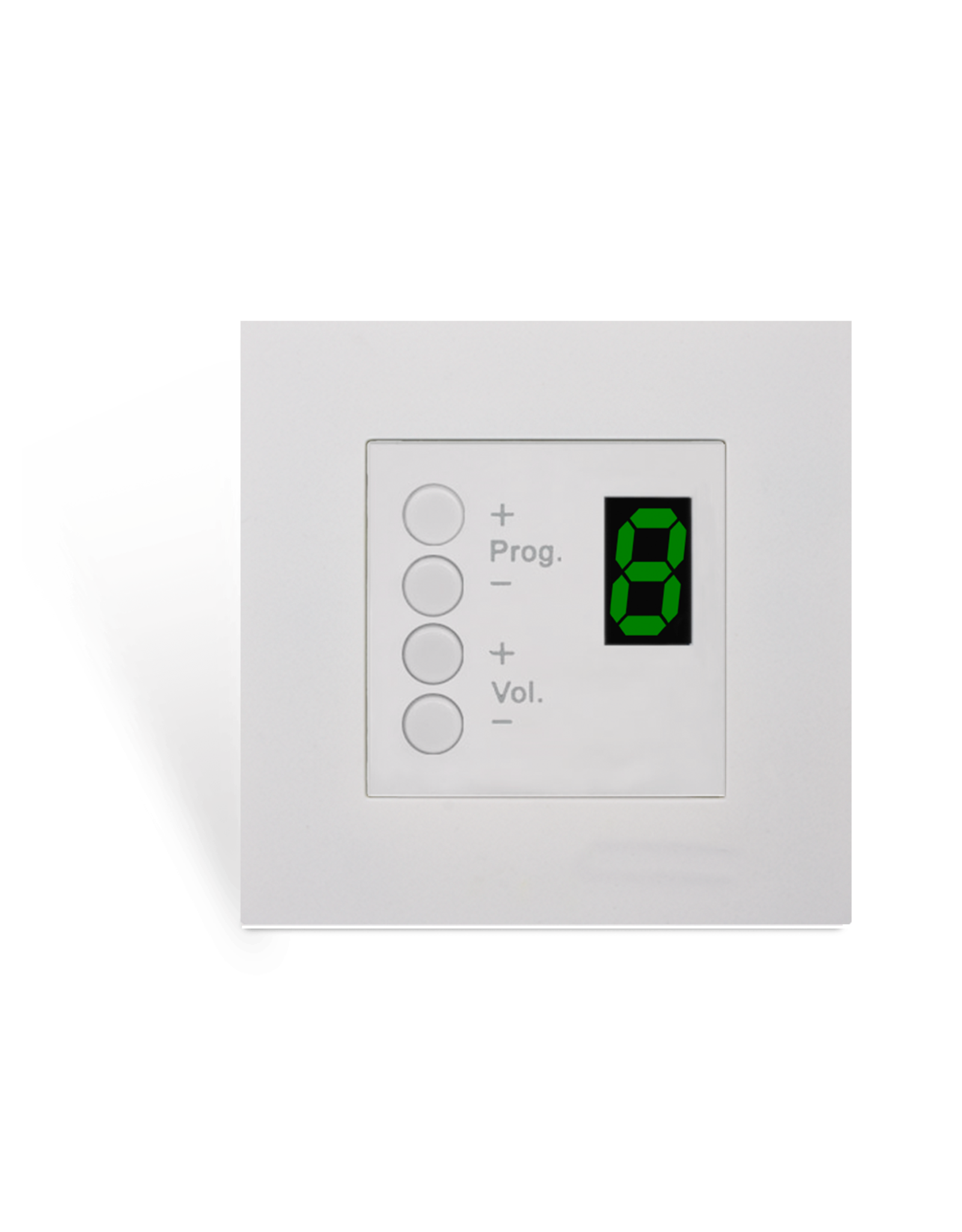 Audac Wall panel controller 8 zones for 45x45 standard White version