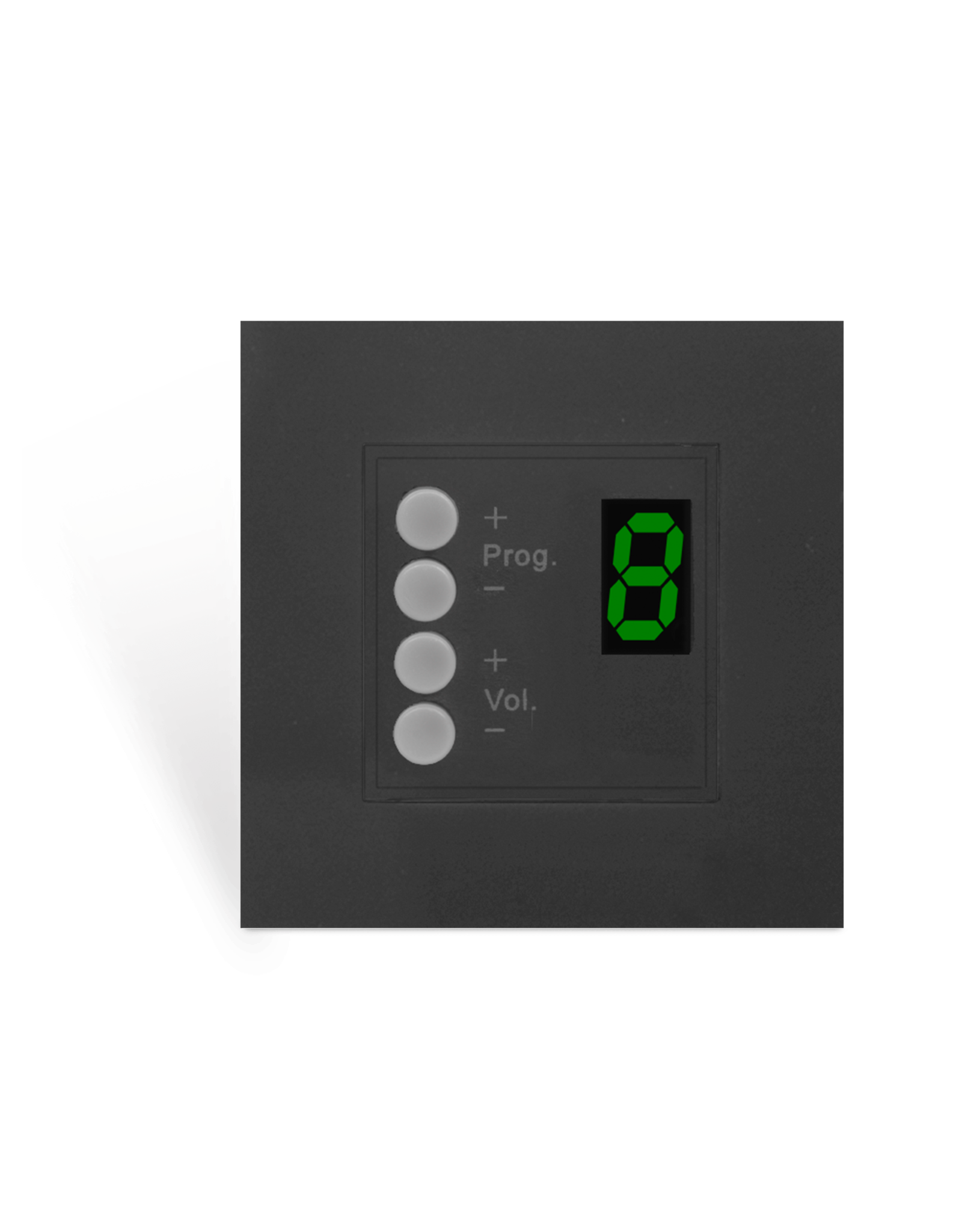 Audac Wall panel controller 8 zones for 45x45 standard Black version