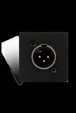 Audac Connection plate XLR male 45 x 45 mm Black version
