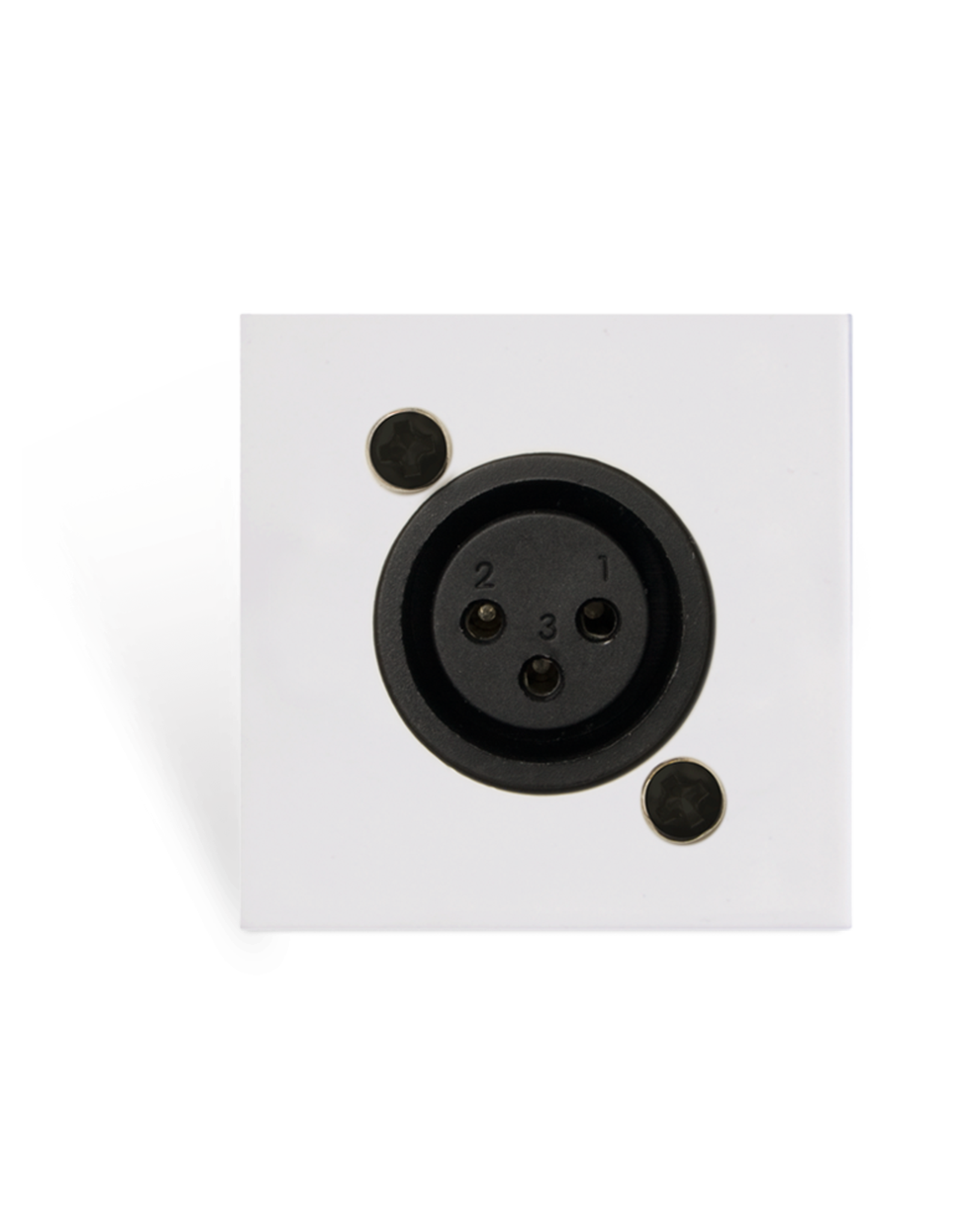 Audac Connection plate XLR female 45 x 45 mm - solderless White