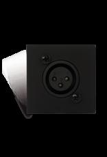 Audac Connection plate XLR female 45 x 45 mm - solderless Black