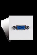 Audac Connection plate VGA 45 x 45 mm White version
