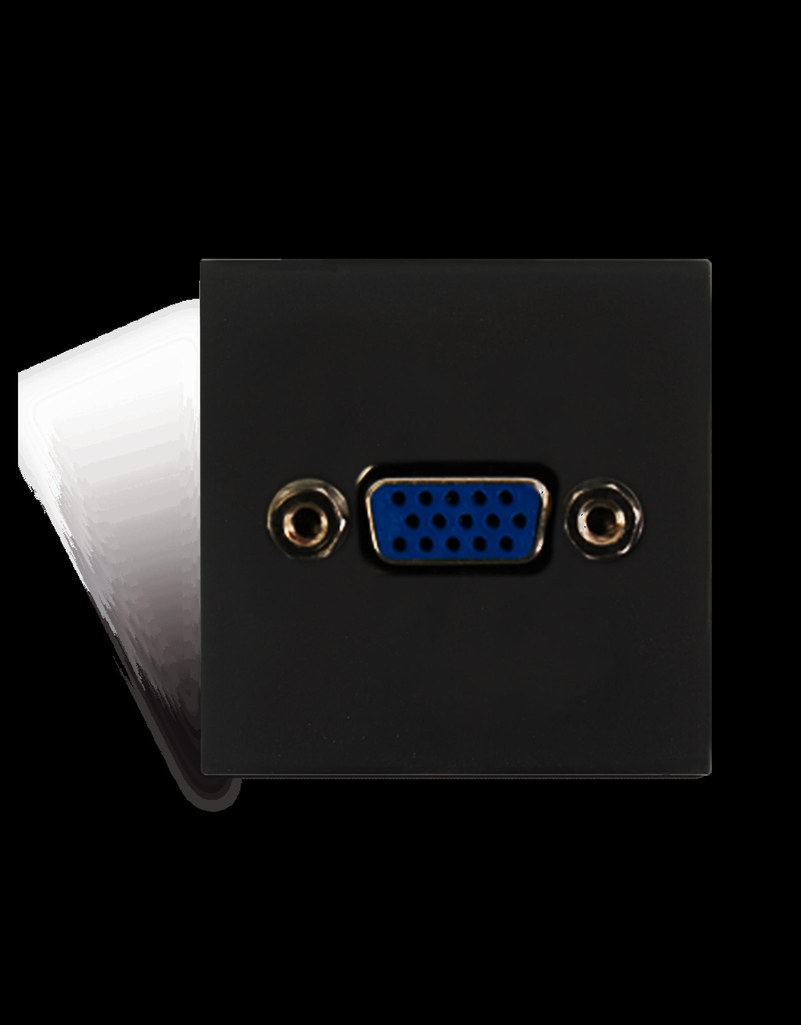 Audac Connection plate VGA 45 x 45 mm Black version