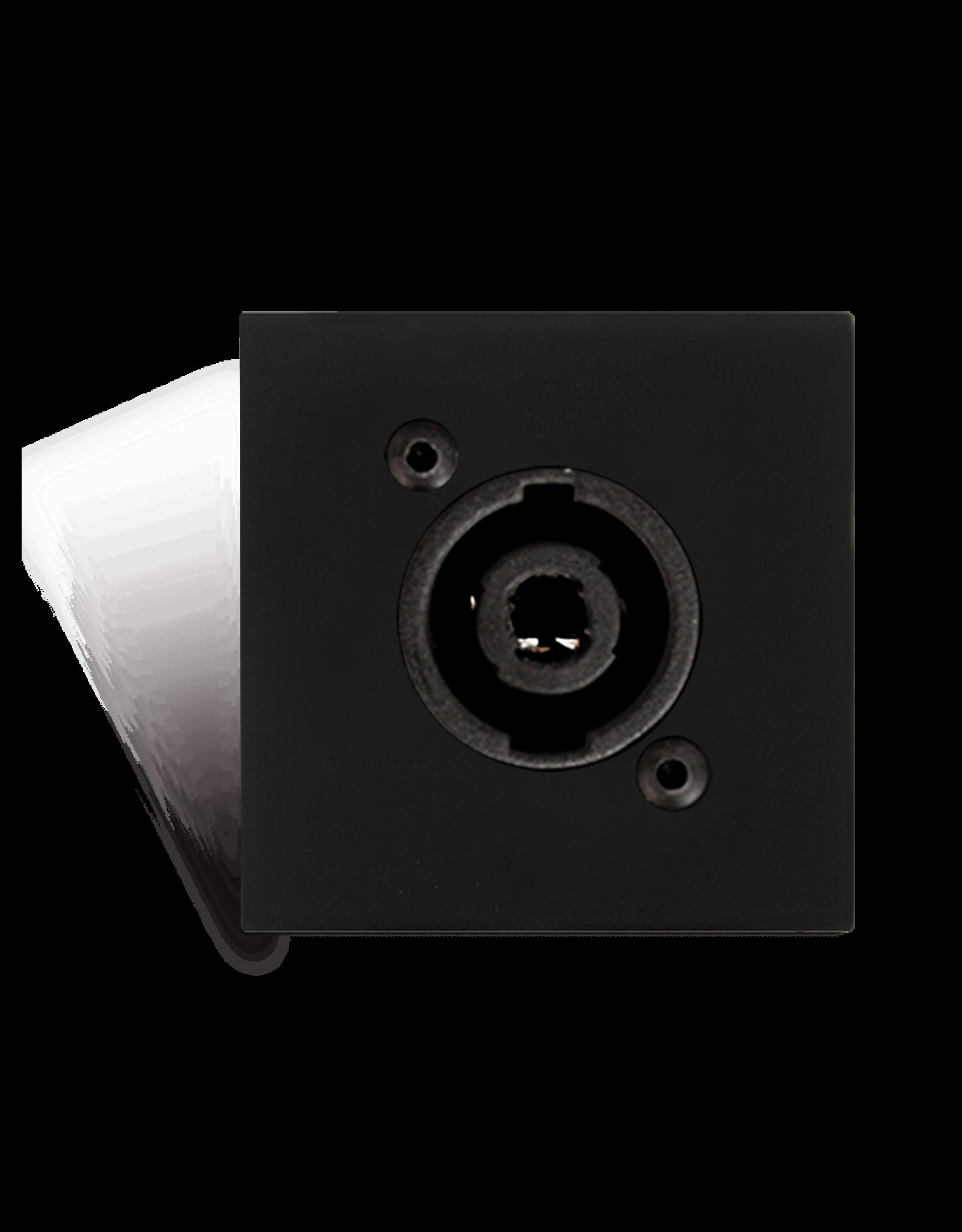 Audac Connection plate D-size speaker 45 X 45 mm - solderless Black version