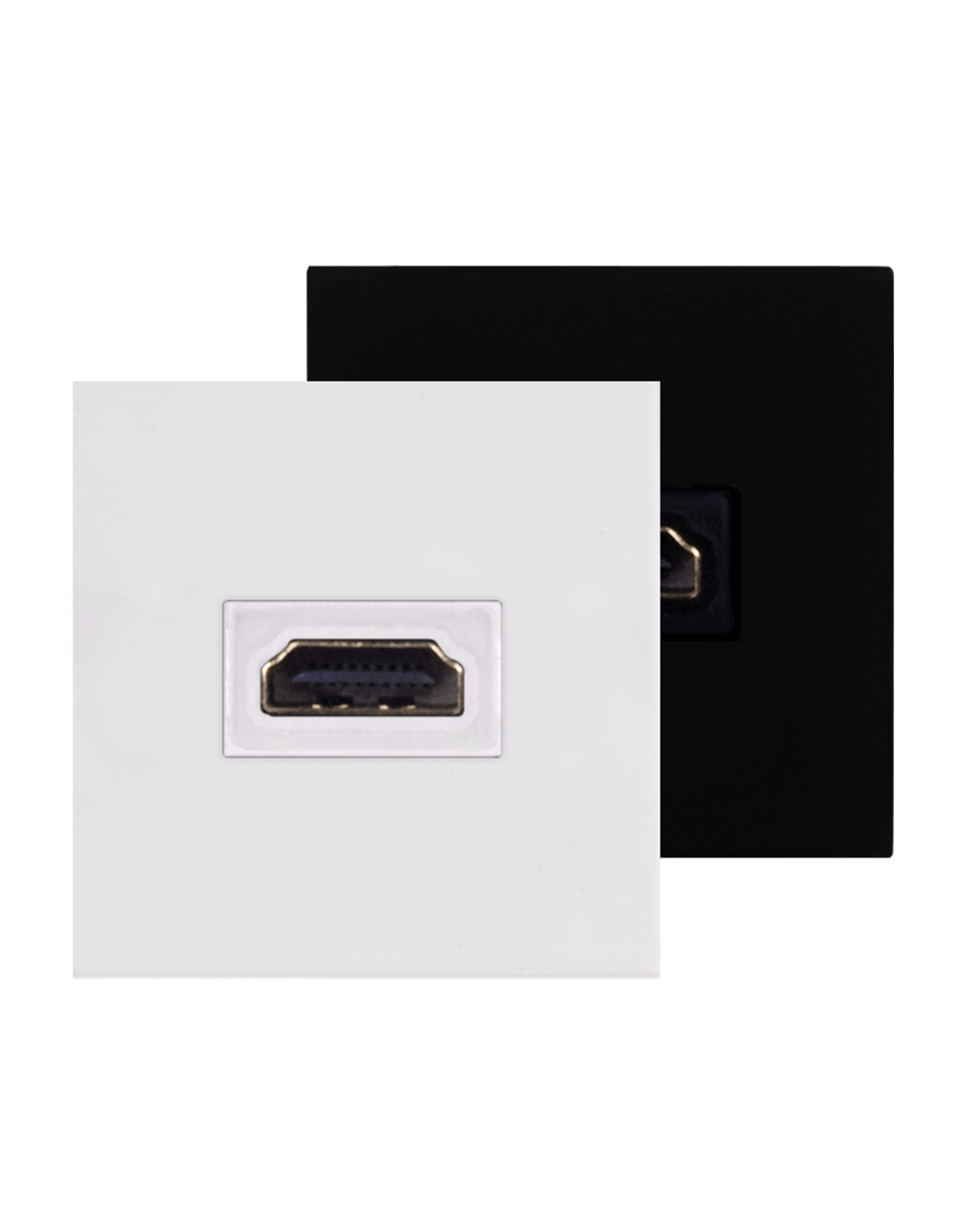 Audac Connection plate HDMI 45 x 45 mm White version