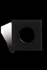 Audac Connection plate D-size 45 x 45 mm Black version
