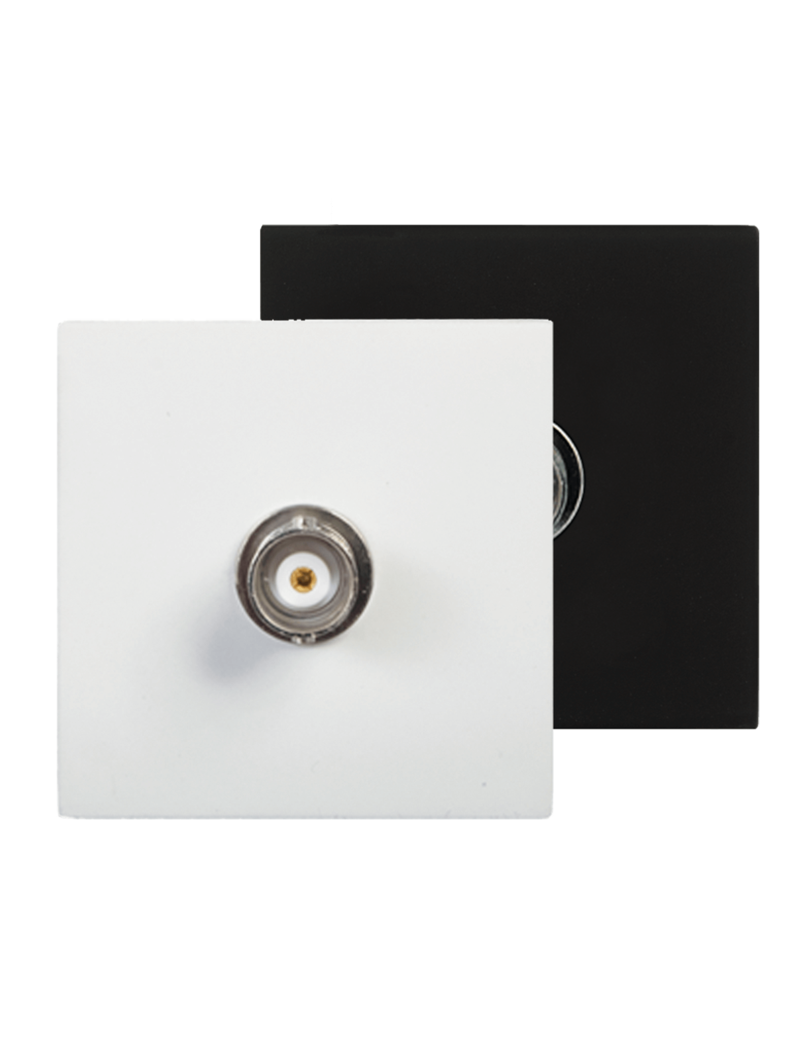 Audac Connection plate BNC 45 x 45 mm Black version