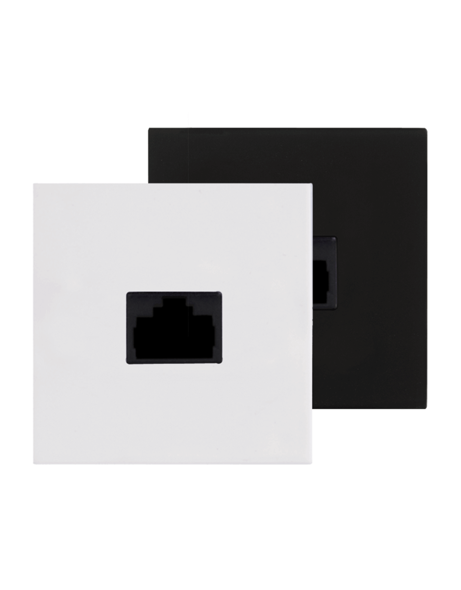 Audac Connection plate RJ45 repeater 45 x 45 mm Black version