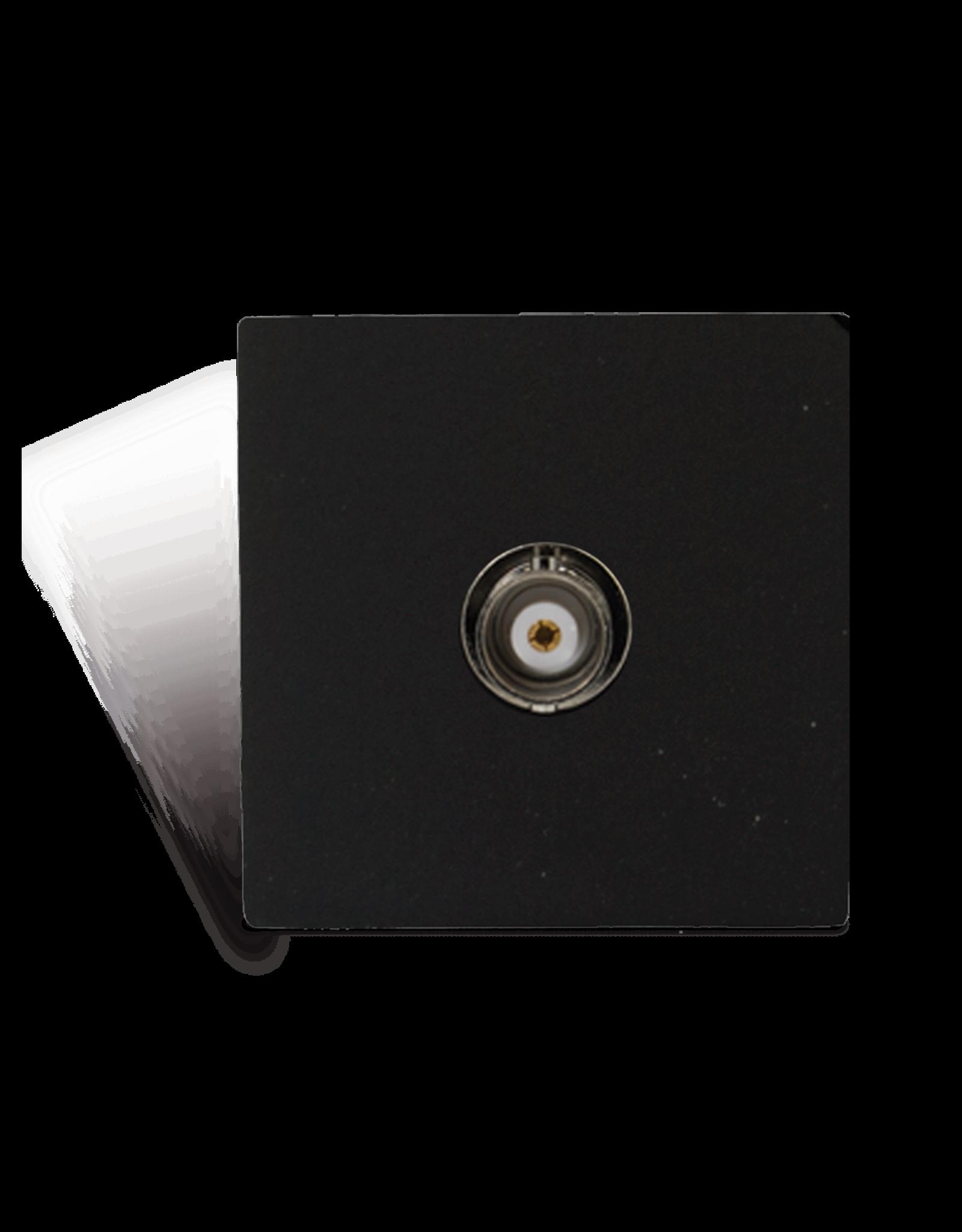 Audac Connection plate - BNC - bticino Black version