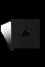 Audac Connection plate - rj45 - bticino Black version