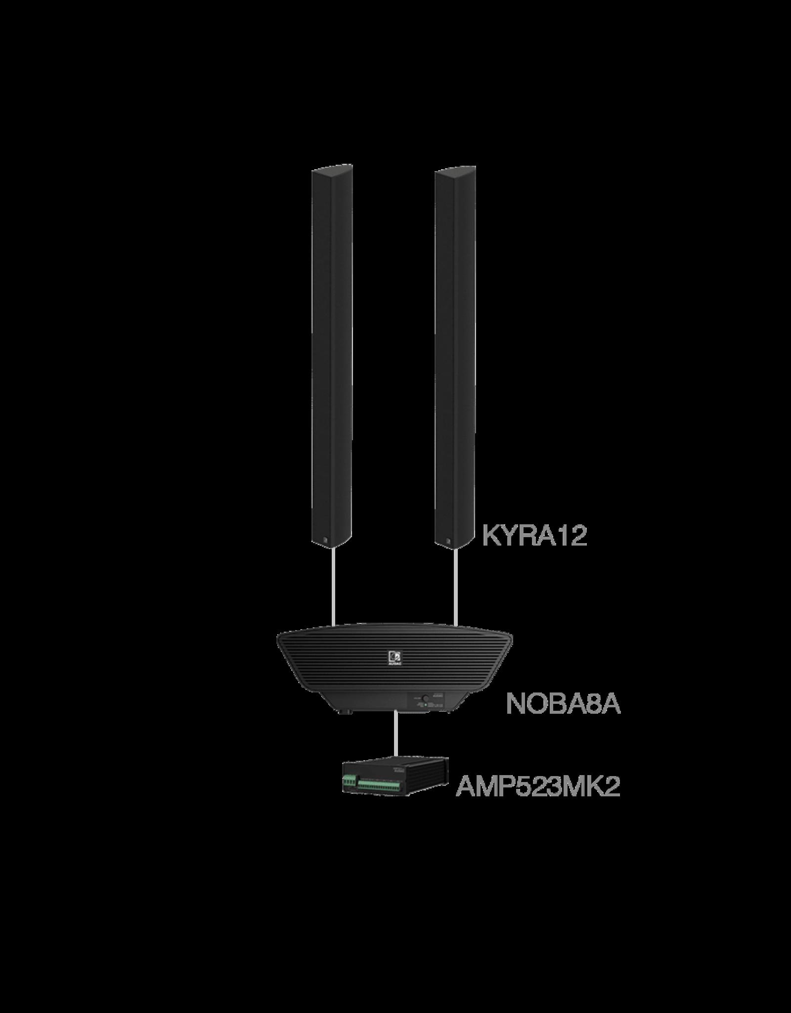 Audac 2 x KYRA12 + NOBA8A + AMP523MK2 Black