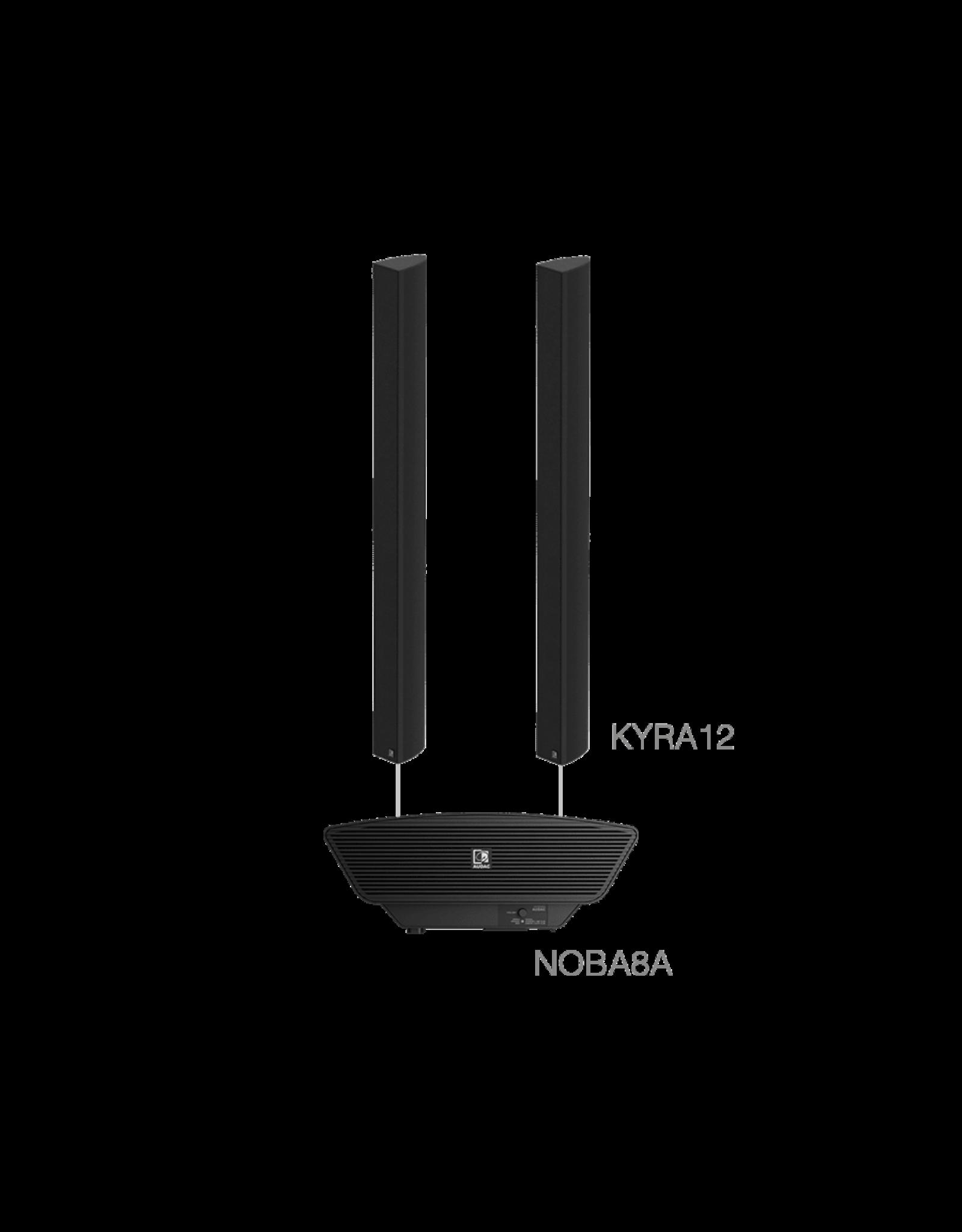 Audac 2 x KYRA12 + NOBA8A  Black