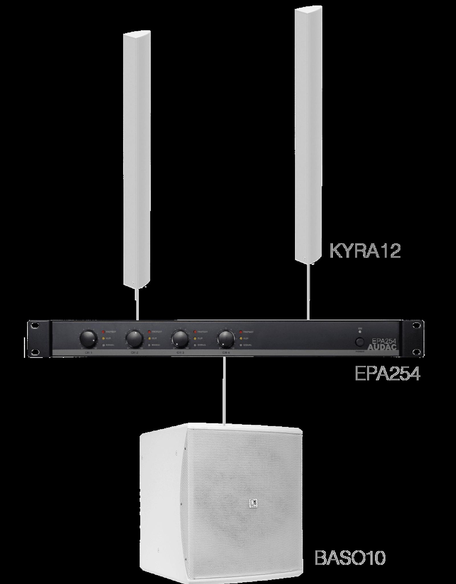 Audac 2 x KYRA12 + BASO10 + EPA254 White