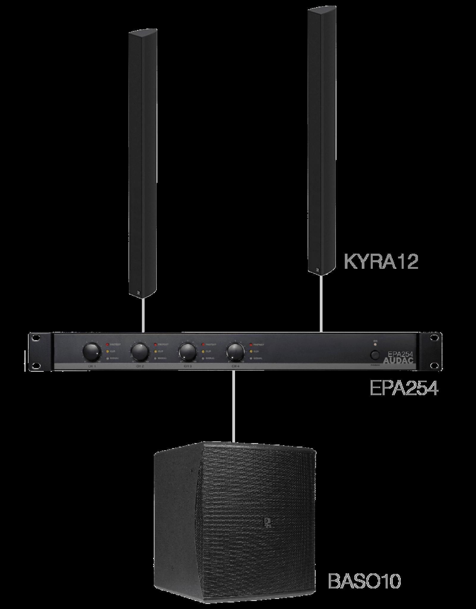 Audac 2 x KYRA12 + BASO10 + EPA254 Black