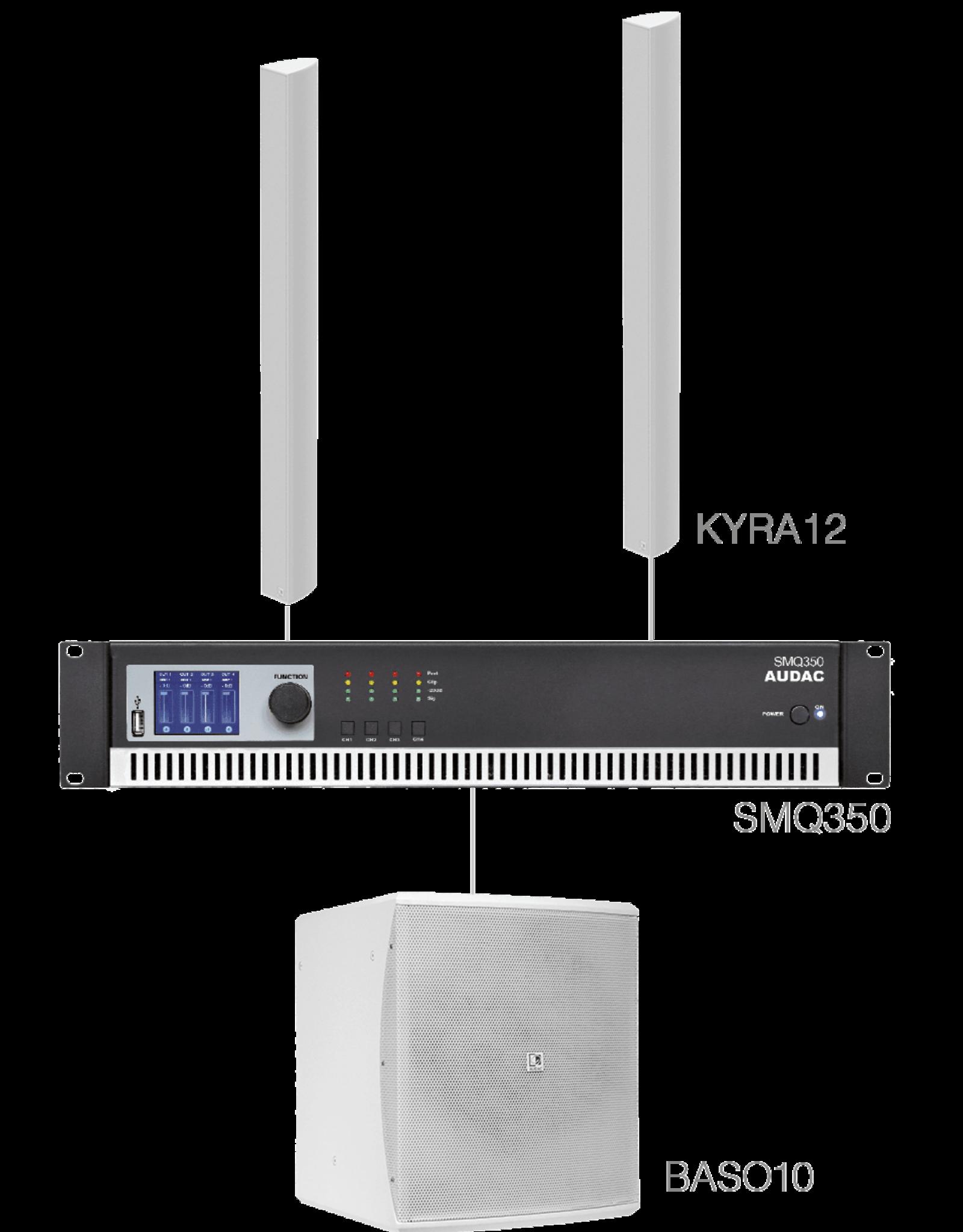 Audac 2 x KYRA12 + BASO10 + SMQ350 White