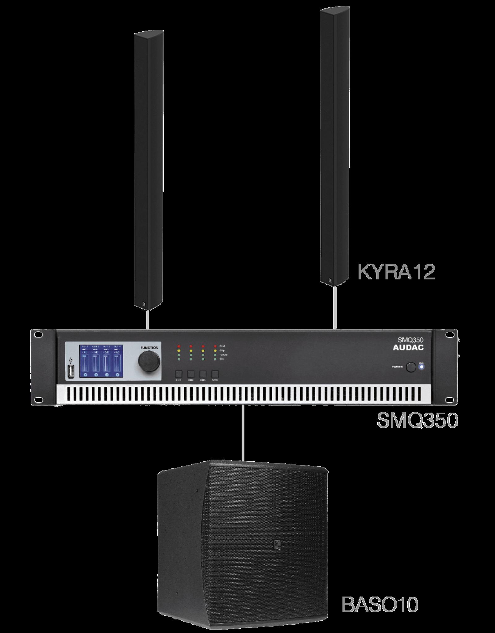 Audac 2 x KYRA12 + BASO10 + SMQ350 Black