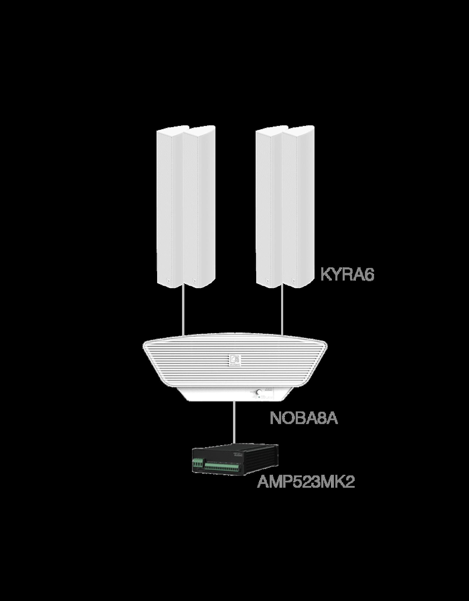 Audac 4 x KYRA6 + NOBA8A  + AMP523MK2 White