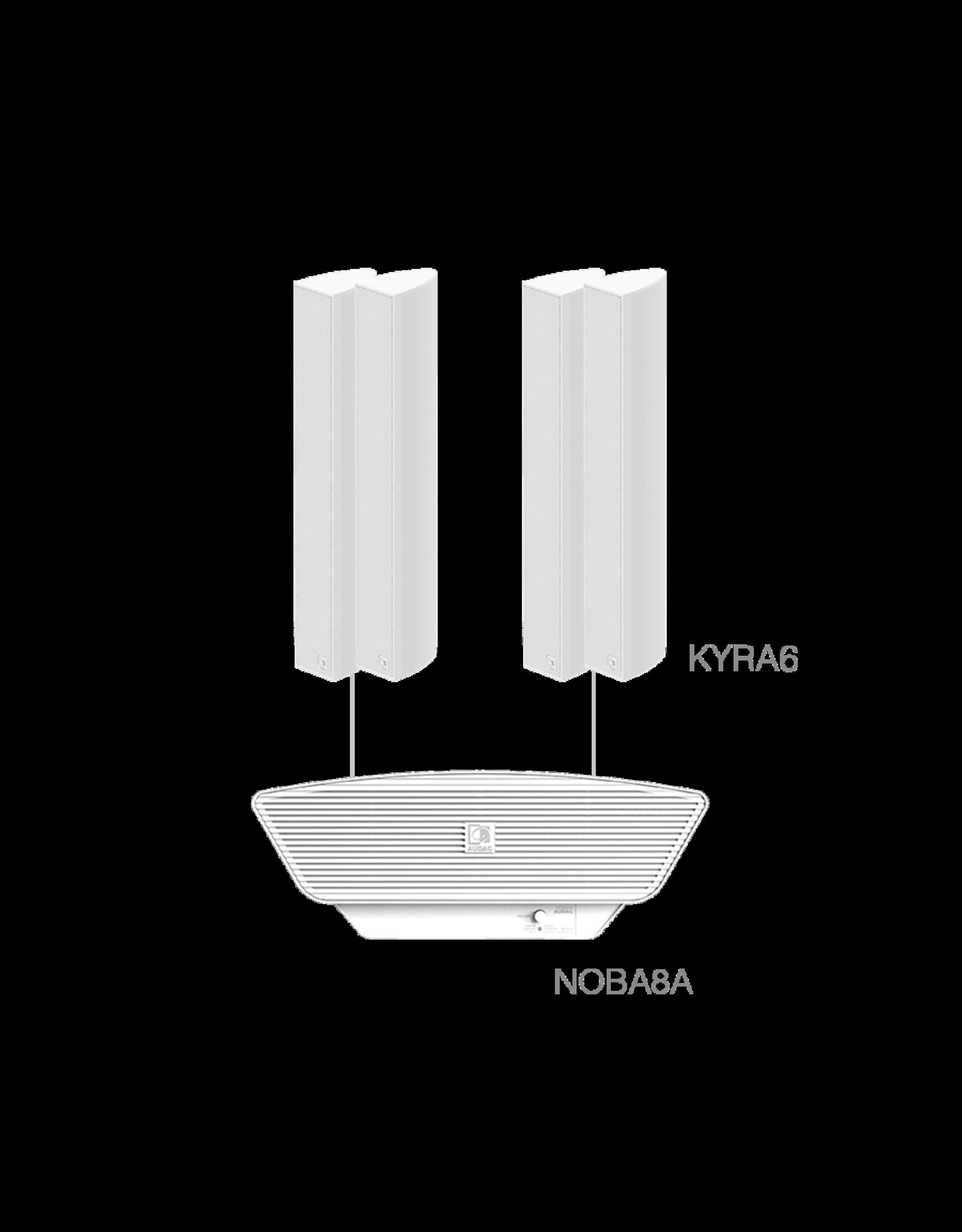 Audac 4 x KYRA6 + NOBA8A White