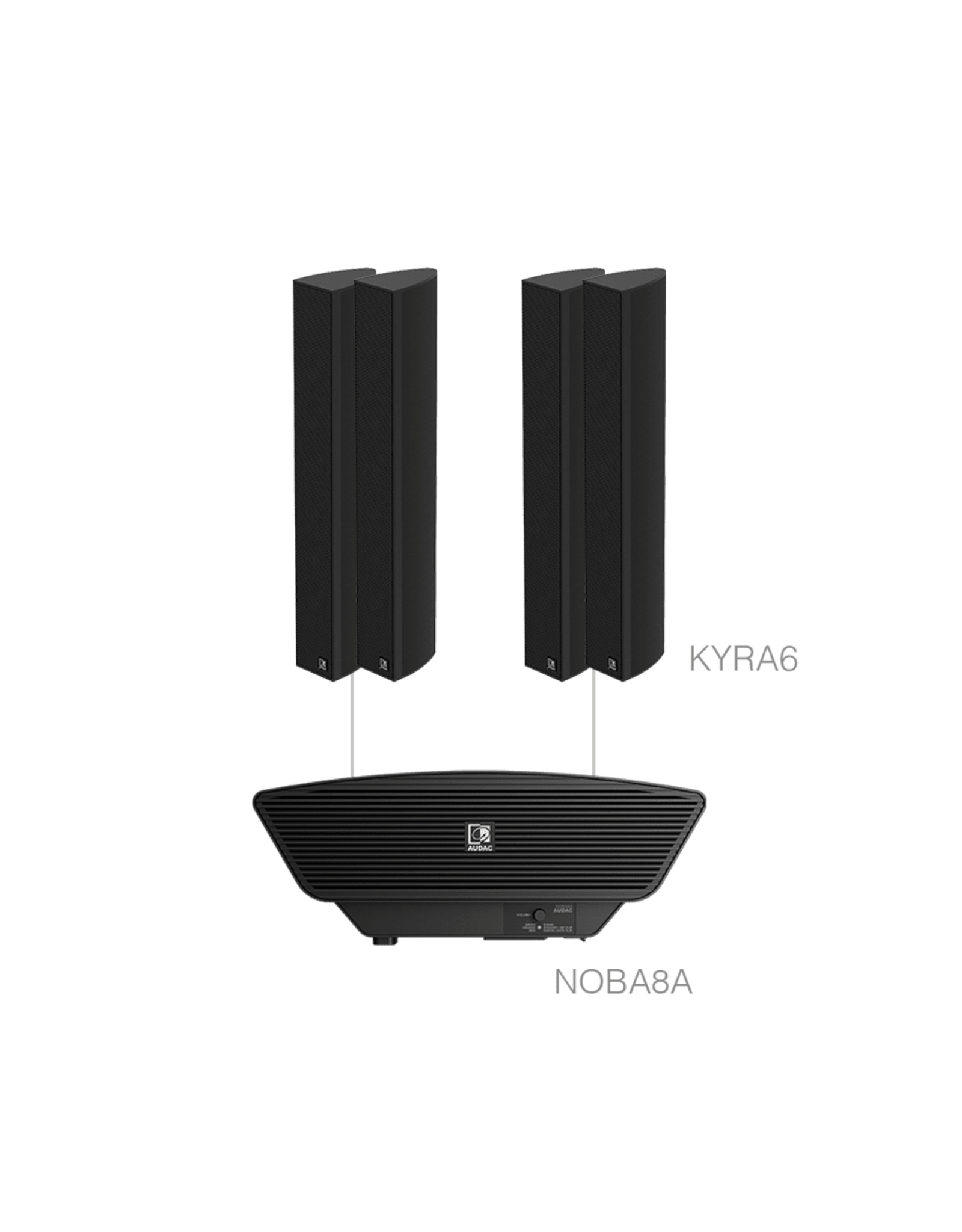 Audac 4 x KYRA6 + NOBA8A Black