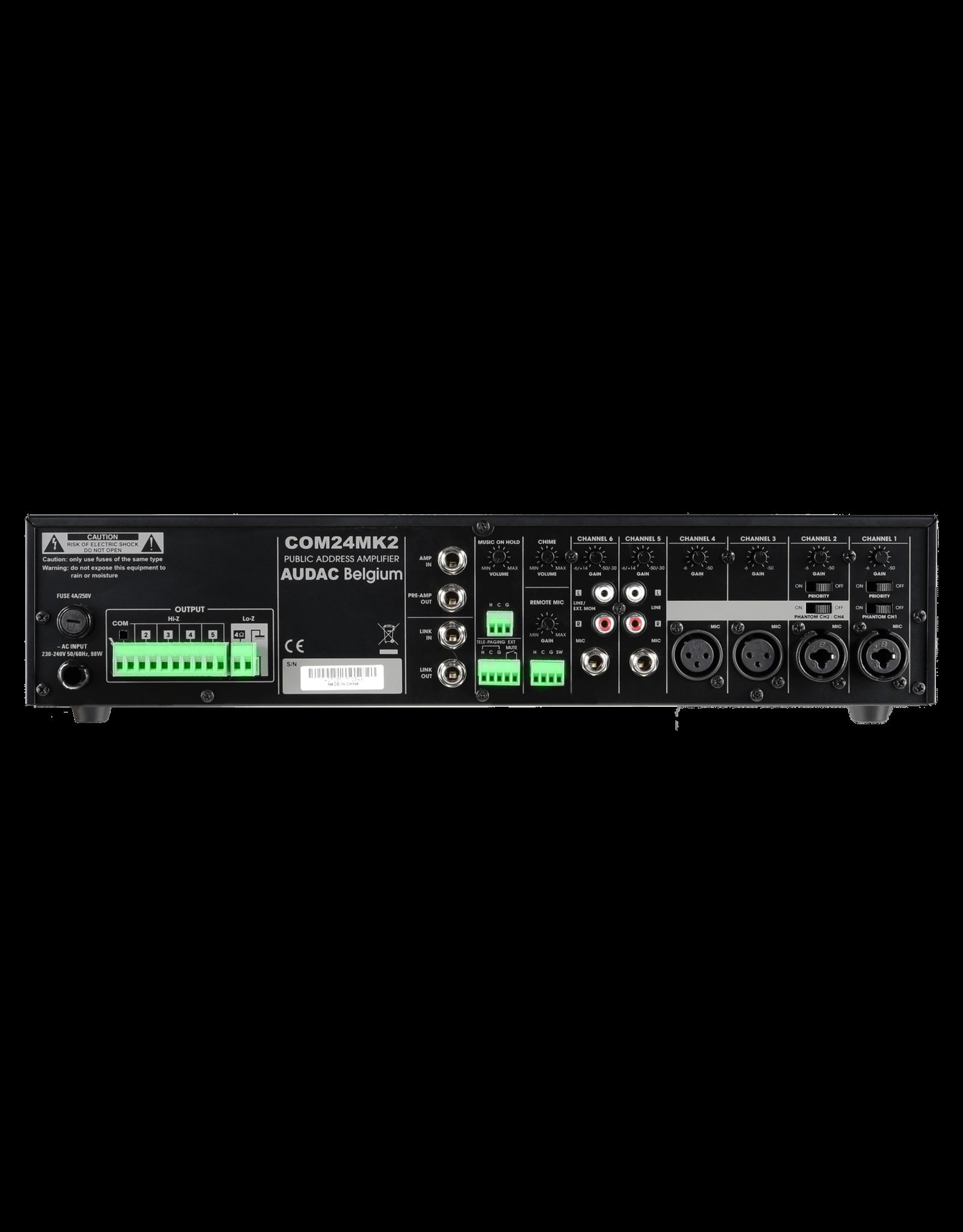 Audac Public address amplifier 240W 100V UK plug