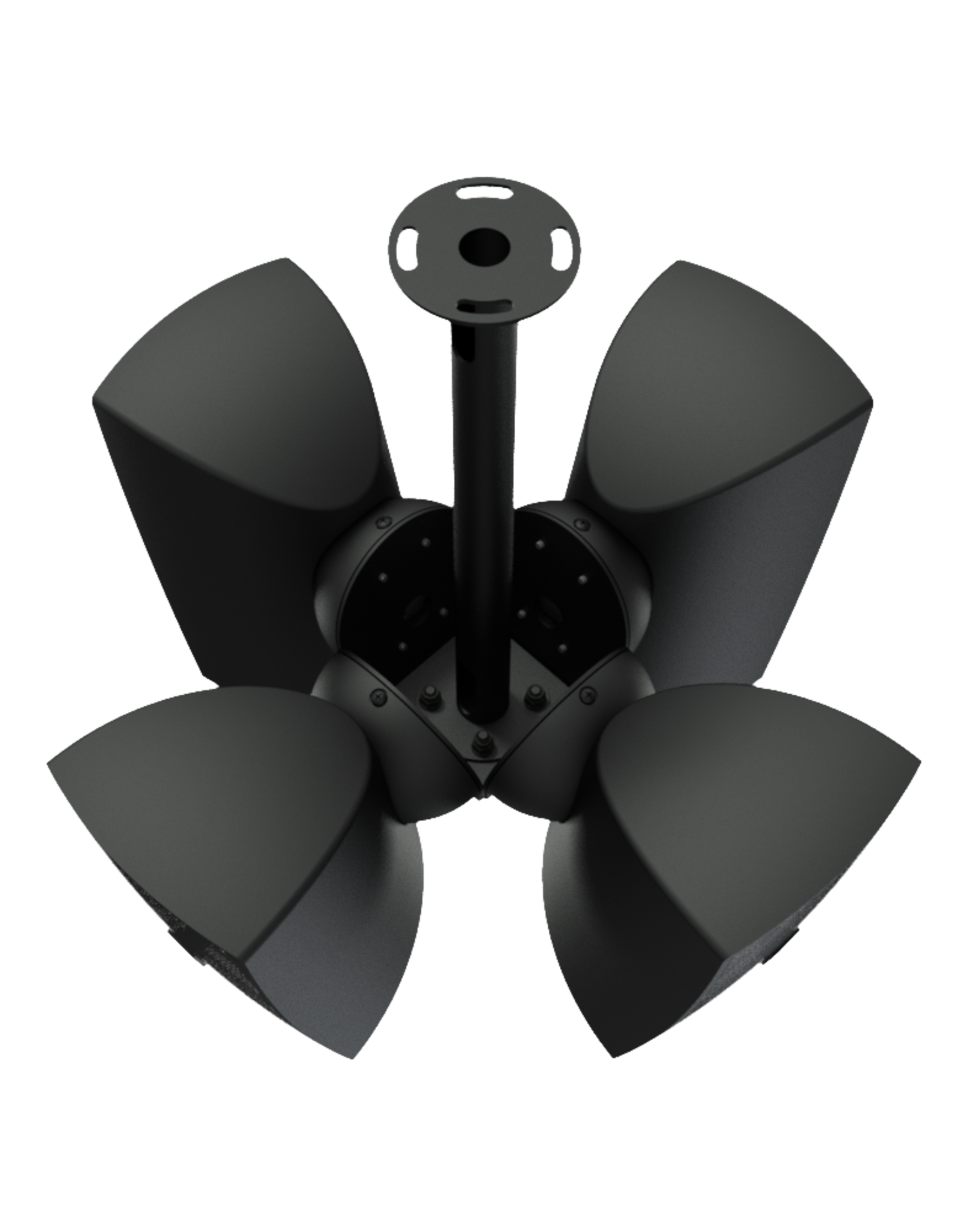Audac Cluster mounting set 4 x ATEO4 speaker Black