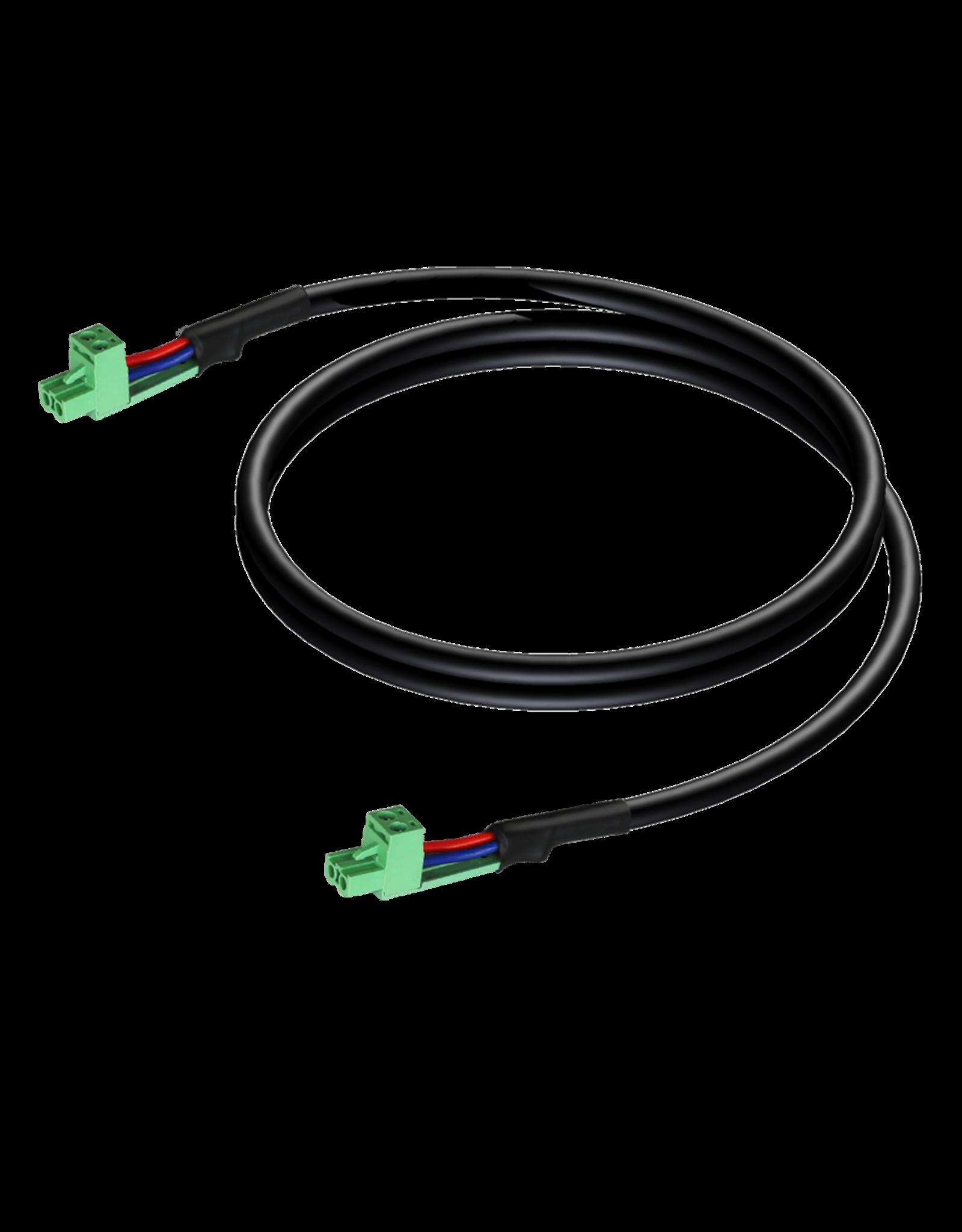 Audac Loudspeaker cable - terminal block - terminal block (2p - 5.08mm) 0,5 meter