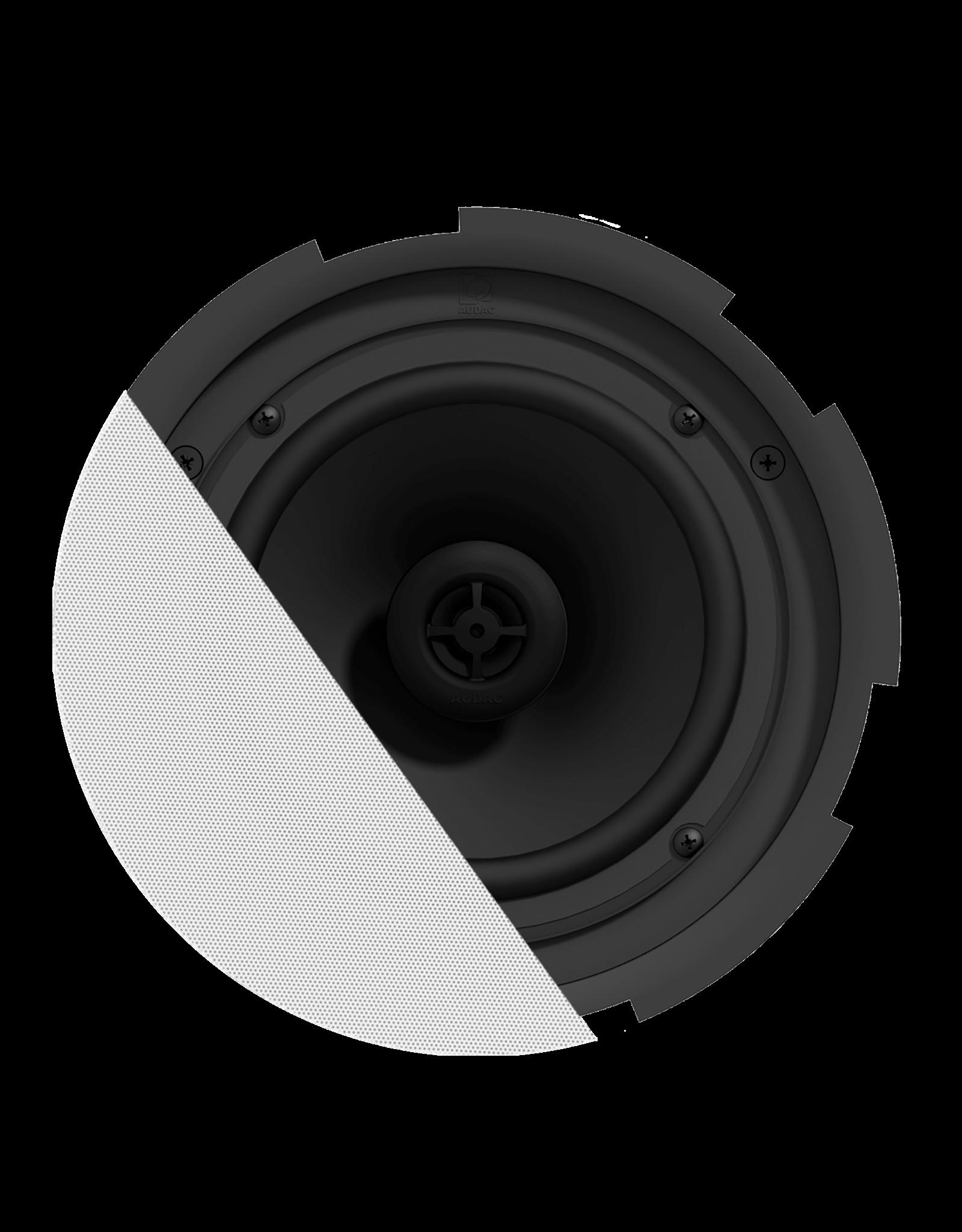 """Audac QuickFit™ 2-way 8"""" ceiling speaker with TwistFix™ grill White version, 8? & 24 Watt @ 100V"""