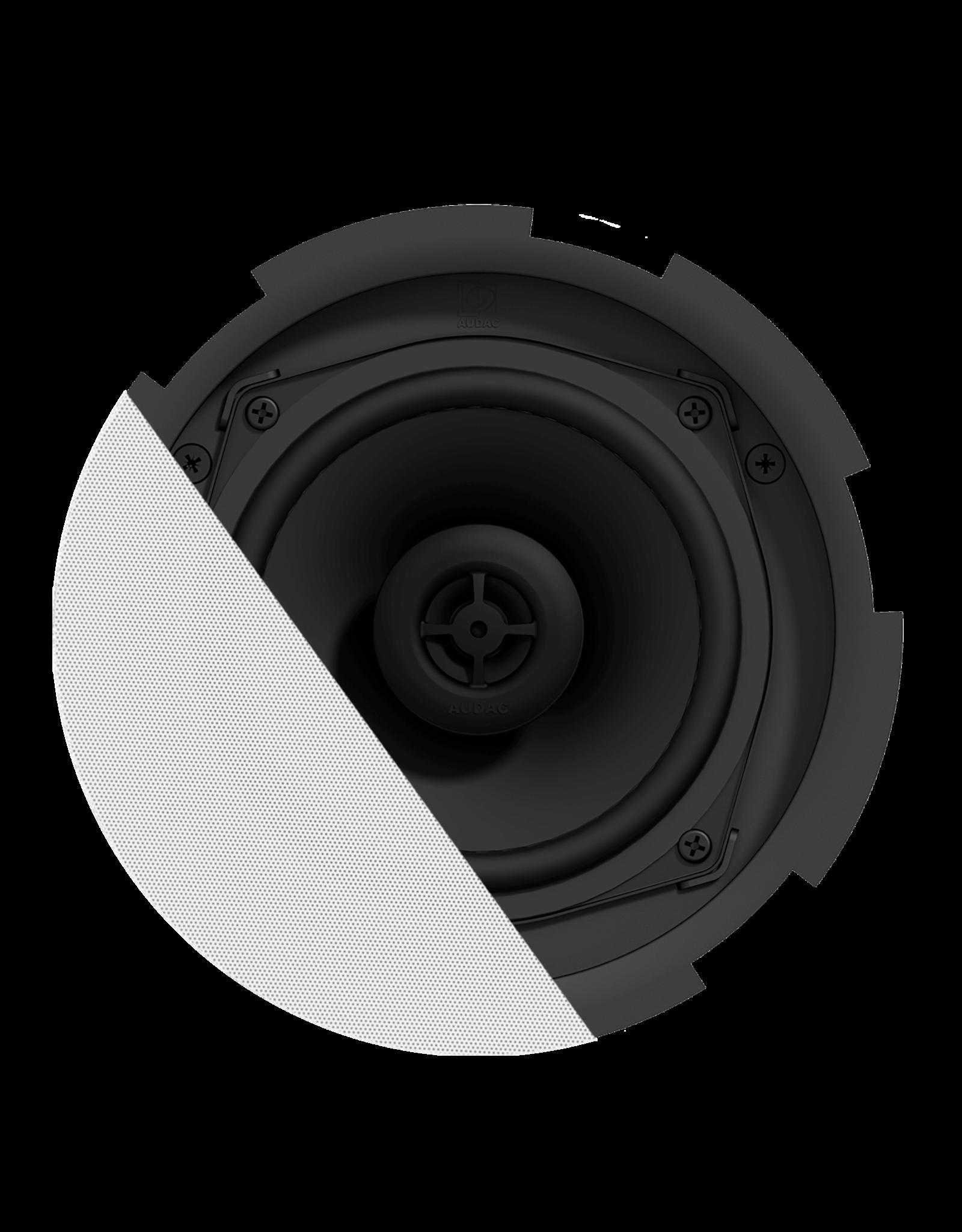 """Audac QuickFit™ 2-way 5 1/4"""" ceiling speaker with TwistFix™ grill White version, 8? & 6 Watt @ 100V"""