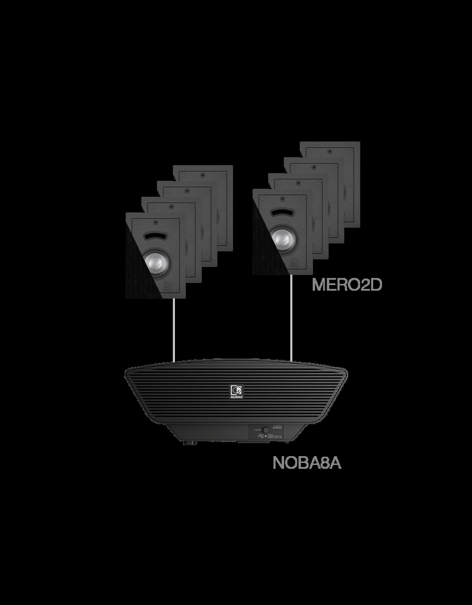 Audac 8x MERO2D + NOBA8A Black