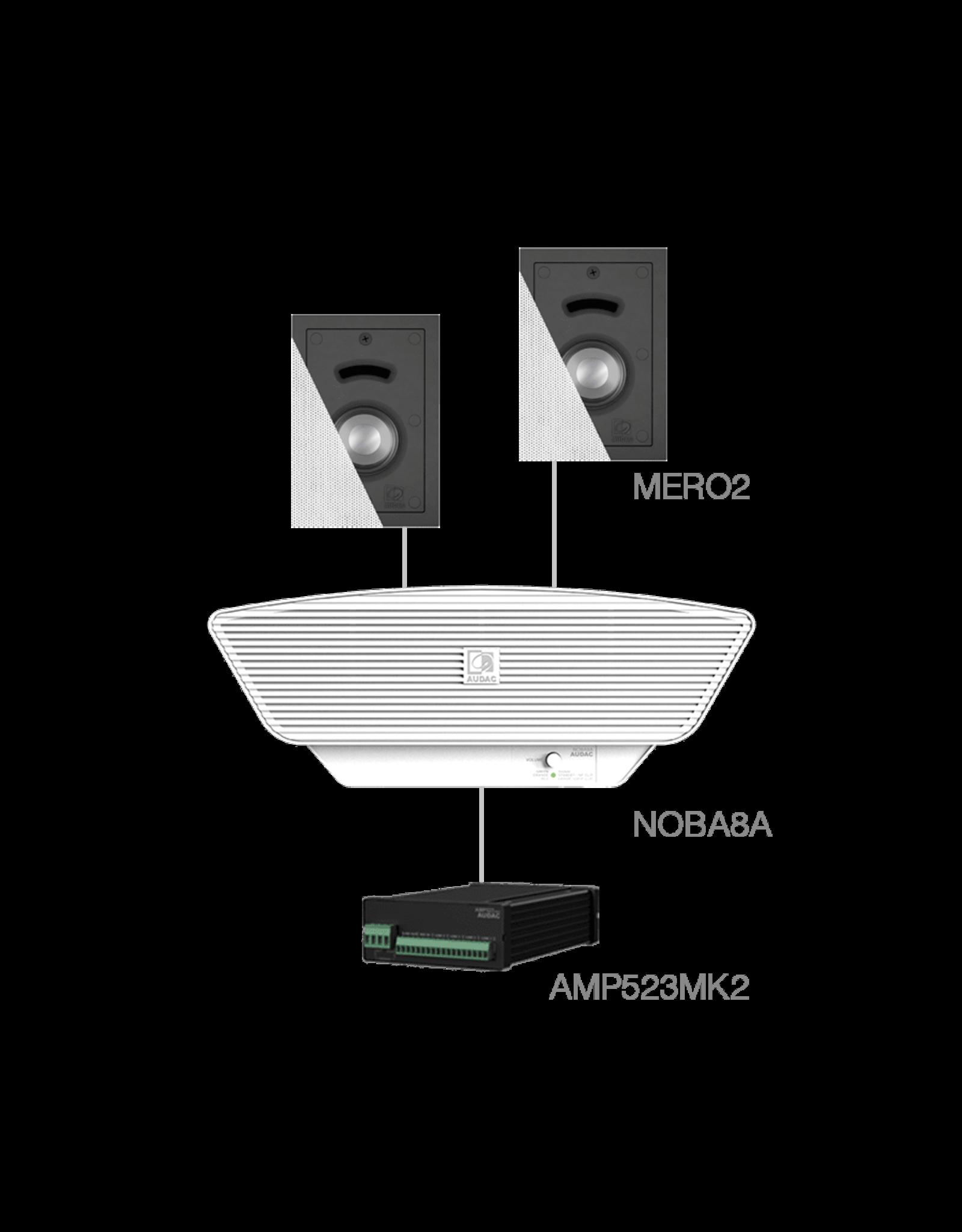 Audac 2x MERO2 + NOBA8A + AMP523MK2 White