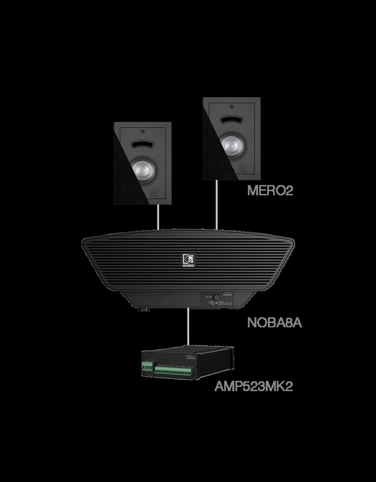 Audac 2x MERO2 + NOBA8A + AMP523MK2 Black