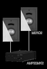 Audac 2 x MERO2 + AMP20MK2 White version