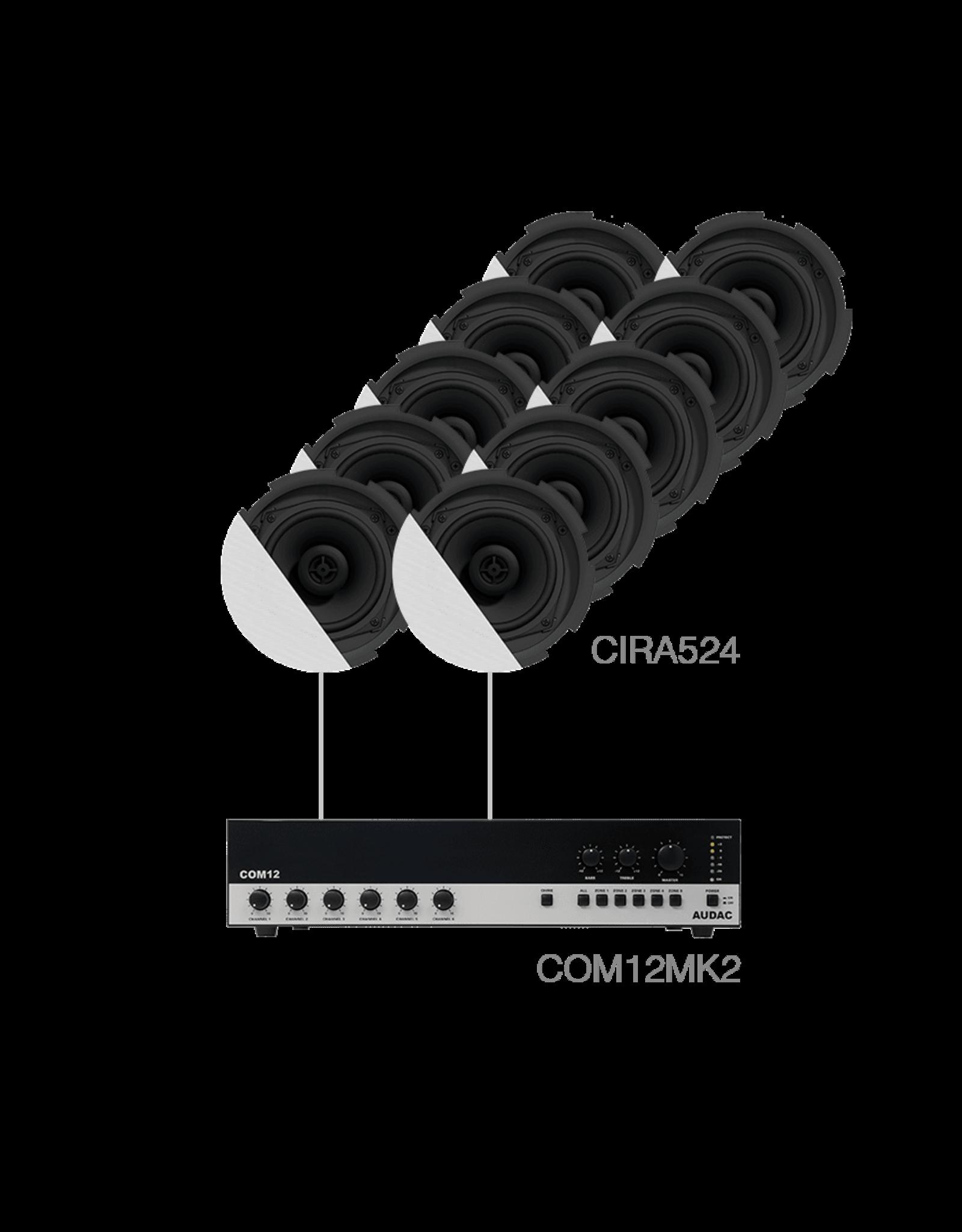 Audac 10 x CIRA524 + COM12MK2 White version