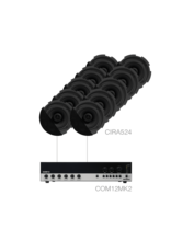 Audac 10 x CIRA524 + COM12MK2 Black version