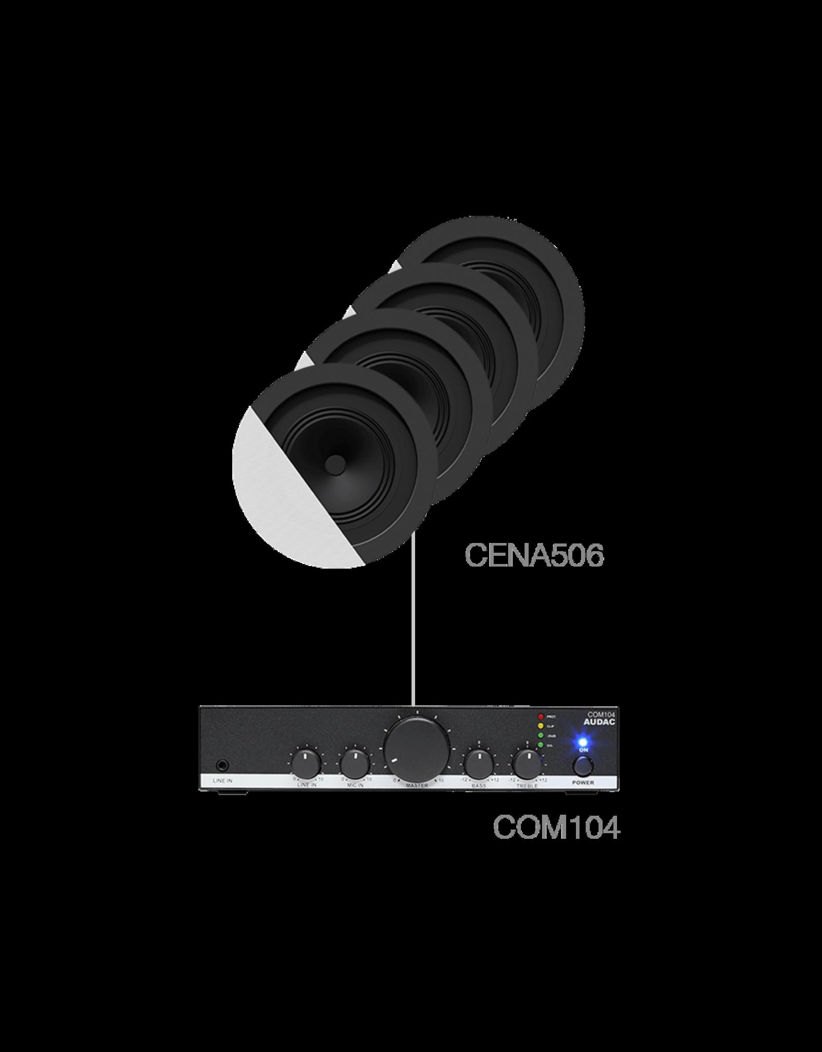 Audac 4 x CENA506 + COM104 White version