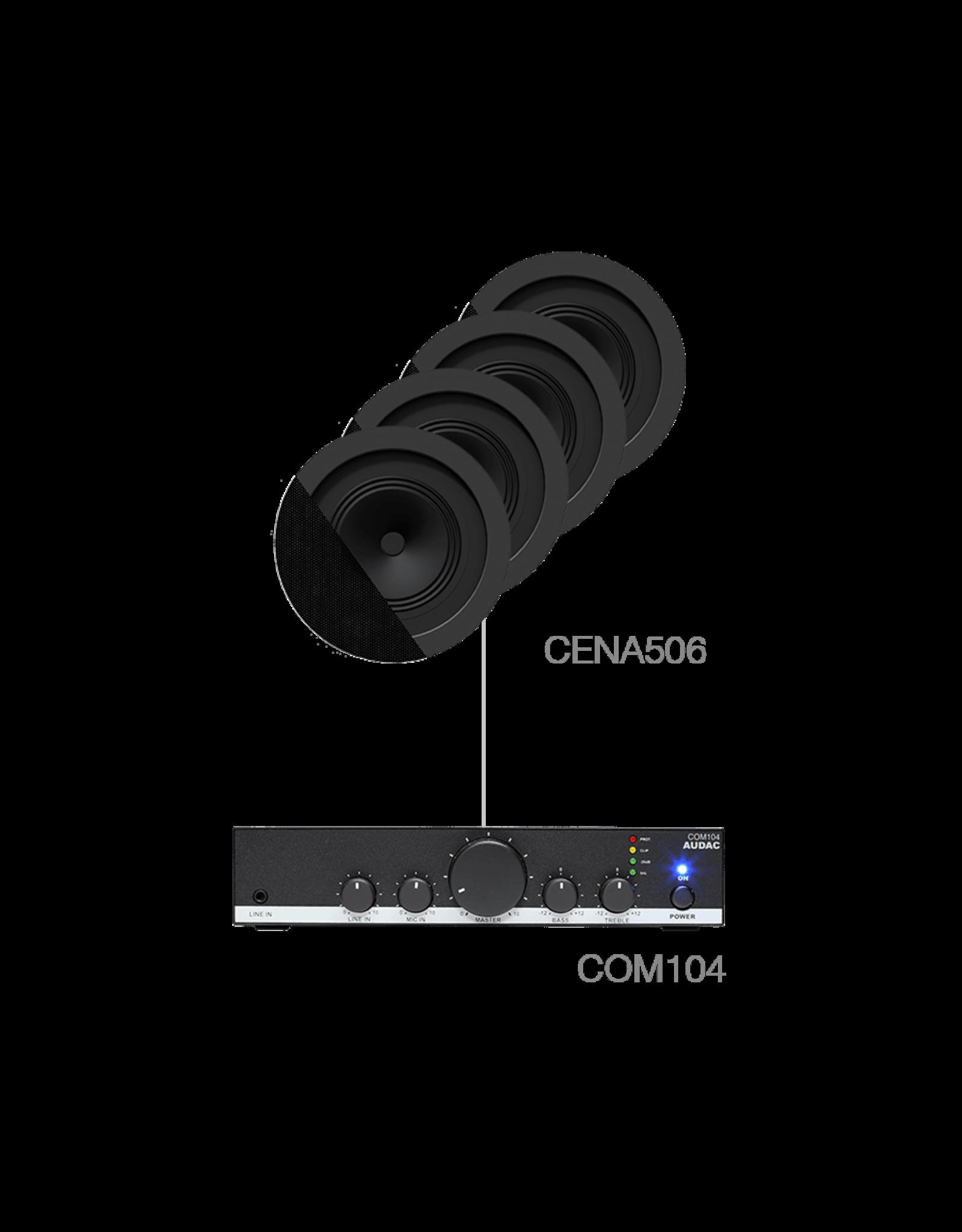 Audac 4 x CENA506 + COM104 Black version