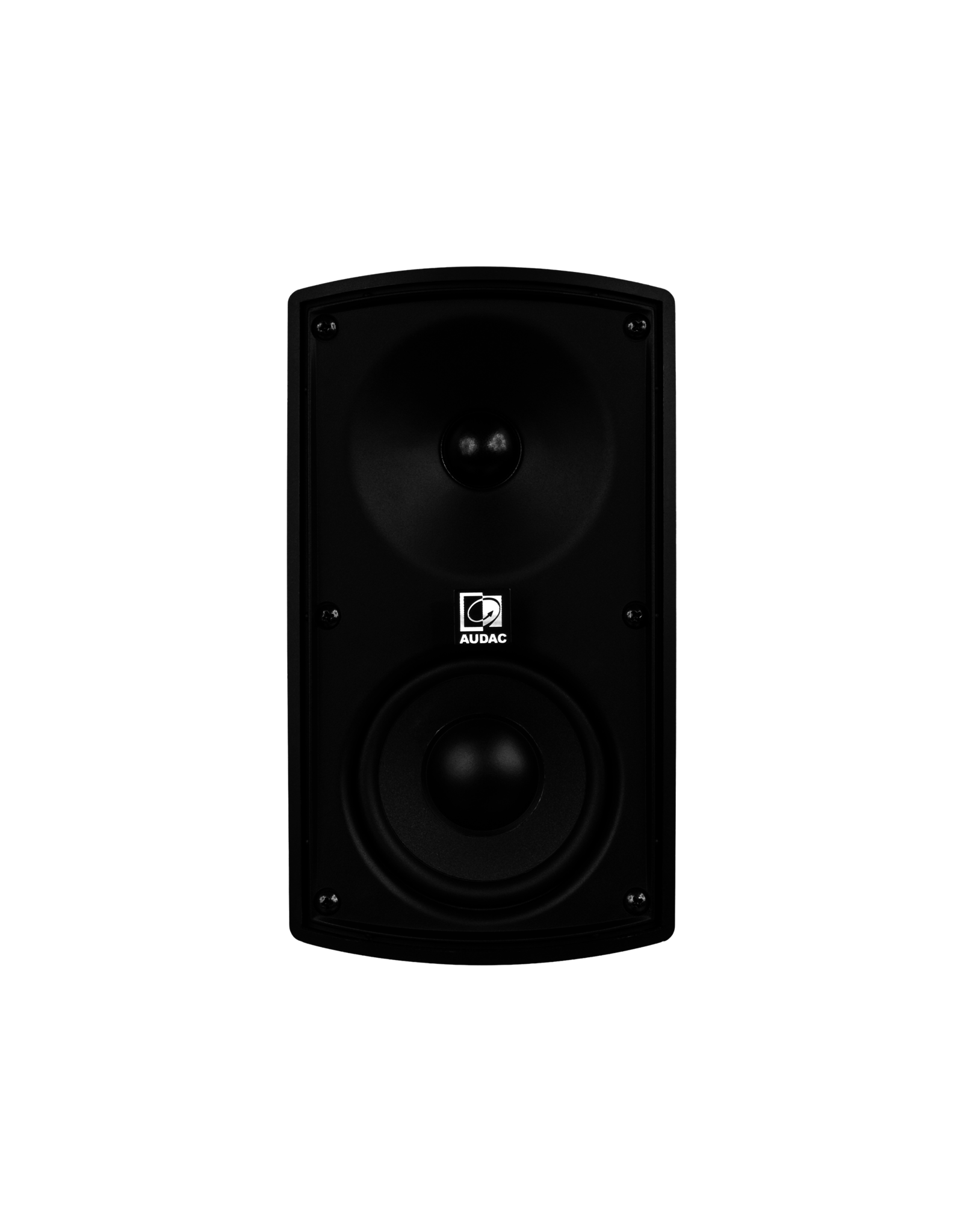 """Audac Wall speaker with CleverMount™ 4"""" Black version - 8 oHM and 100V"""