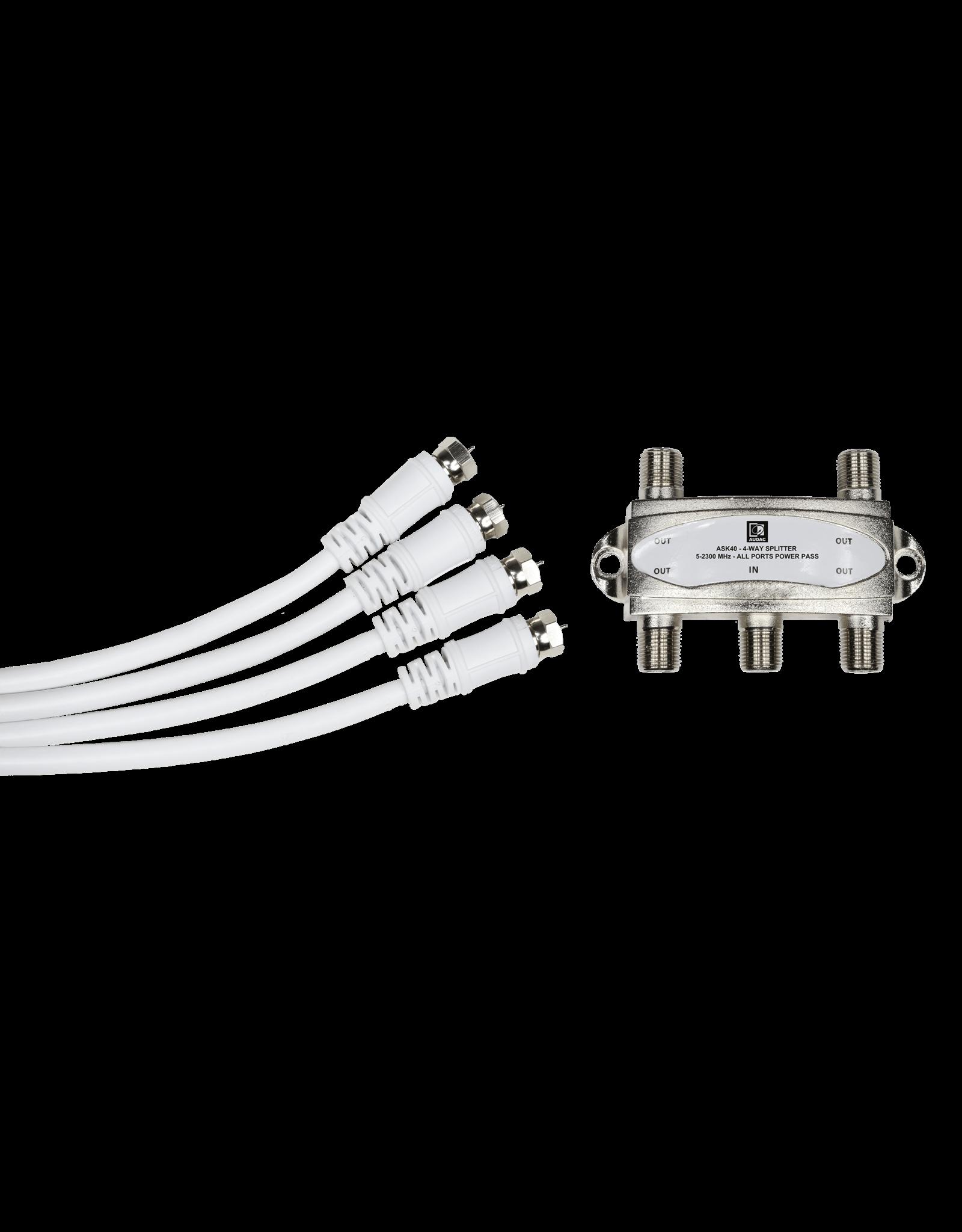 Audac 4-Way antenna splitter kit