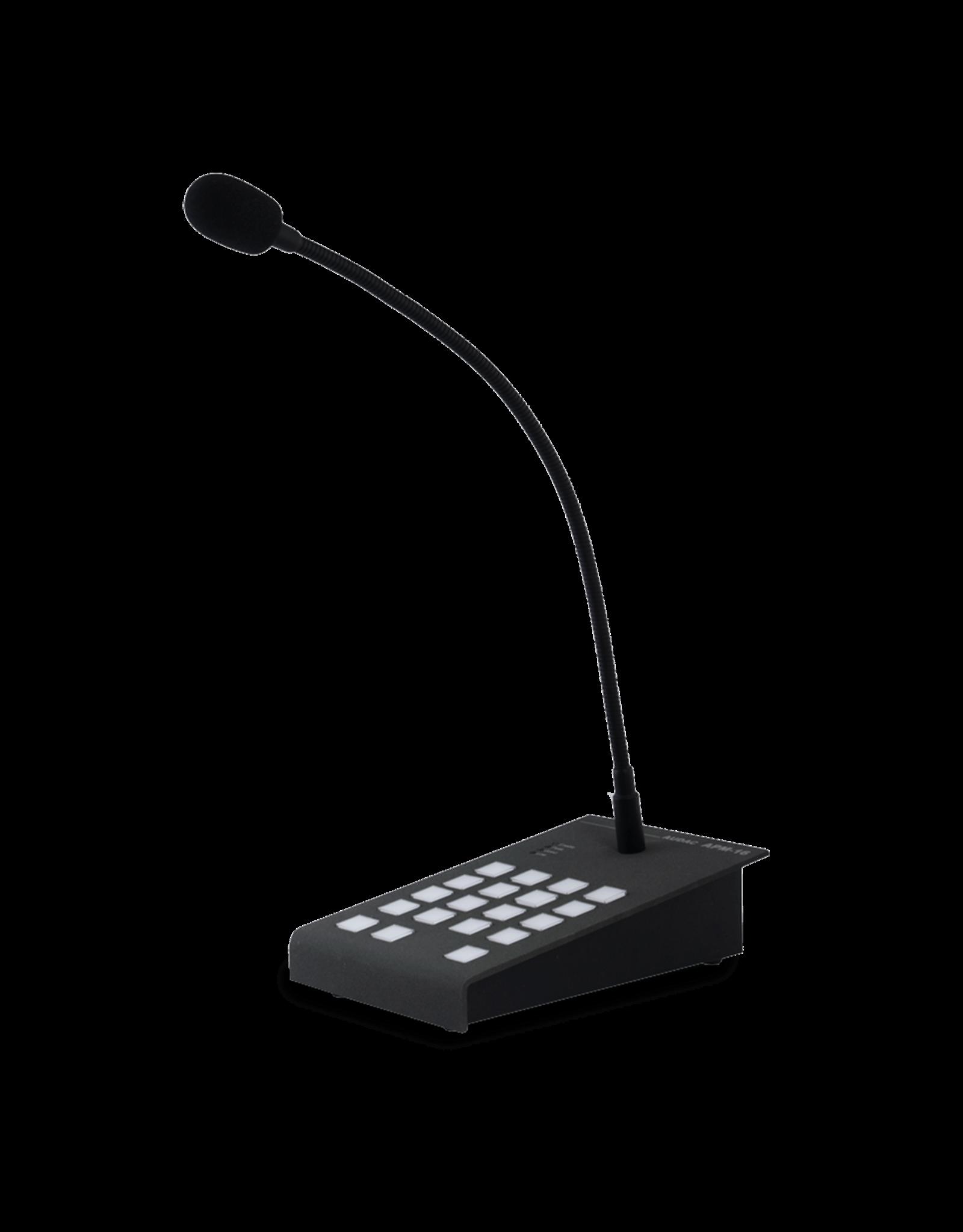 Audac Digital paging microphone 16 zones Digital paging microphone 16 zones
