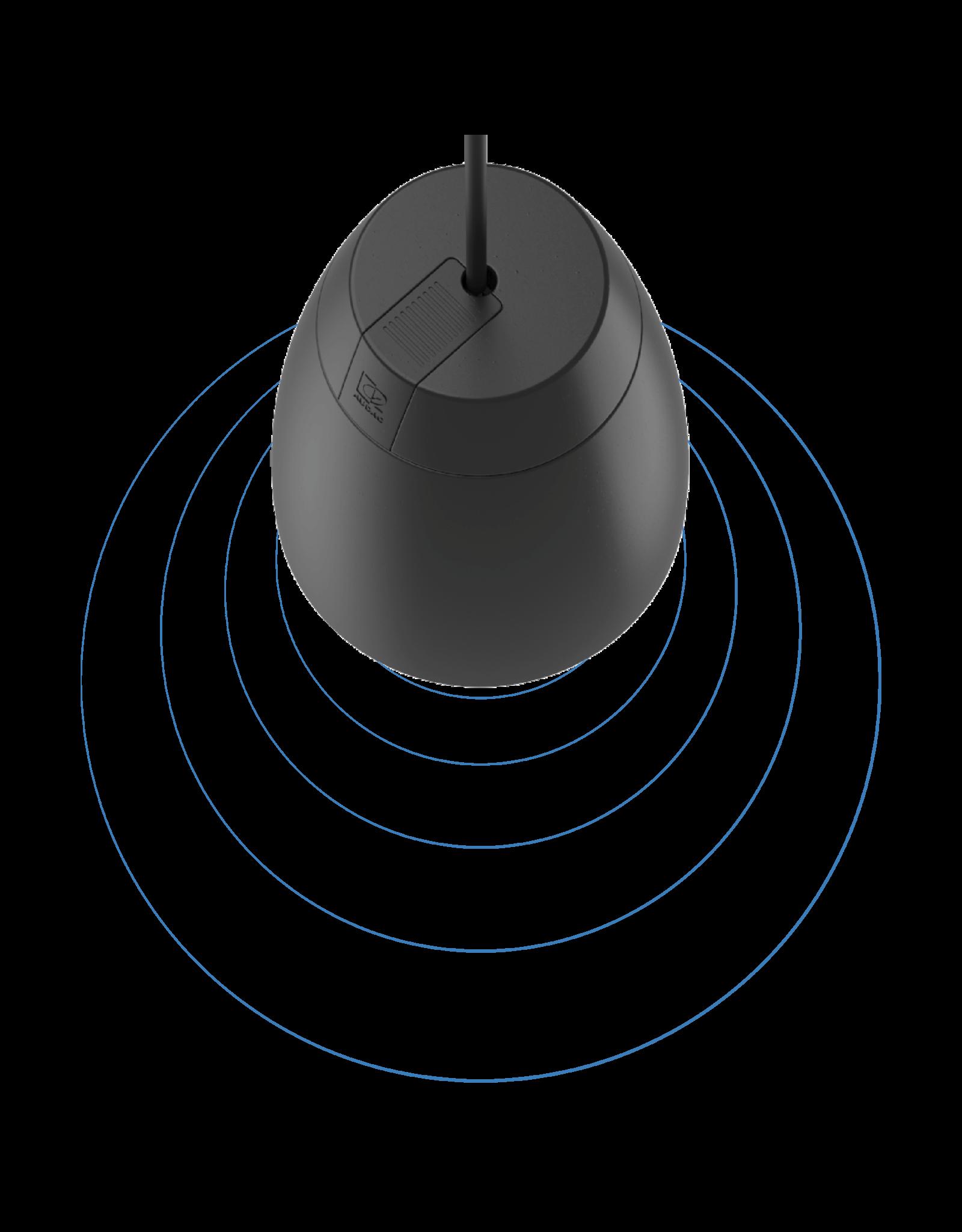"Audac 2-way 6"" pendant speaker Black version"